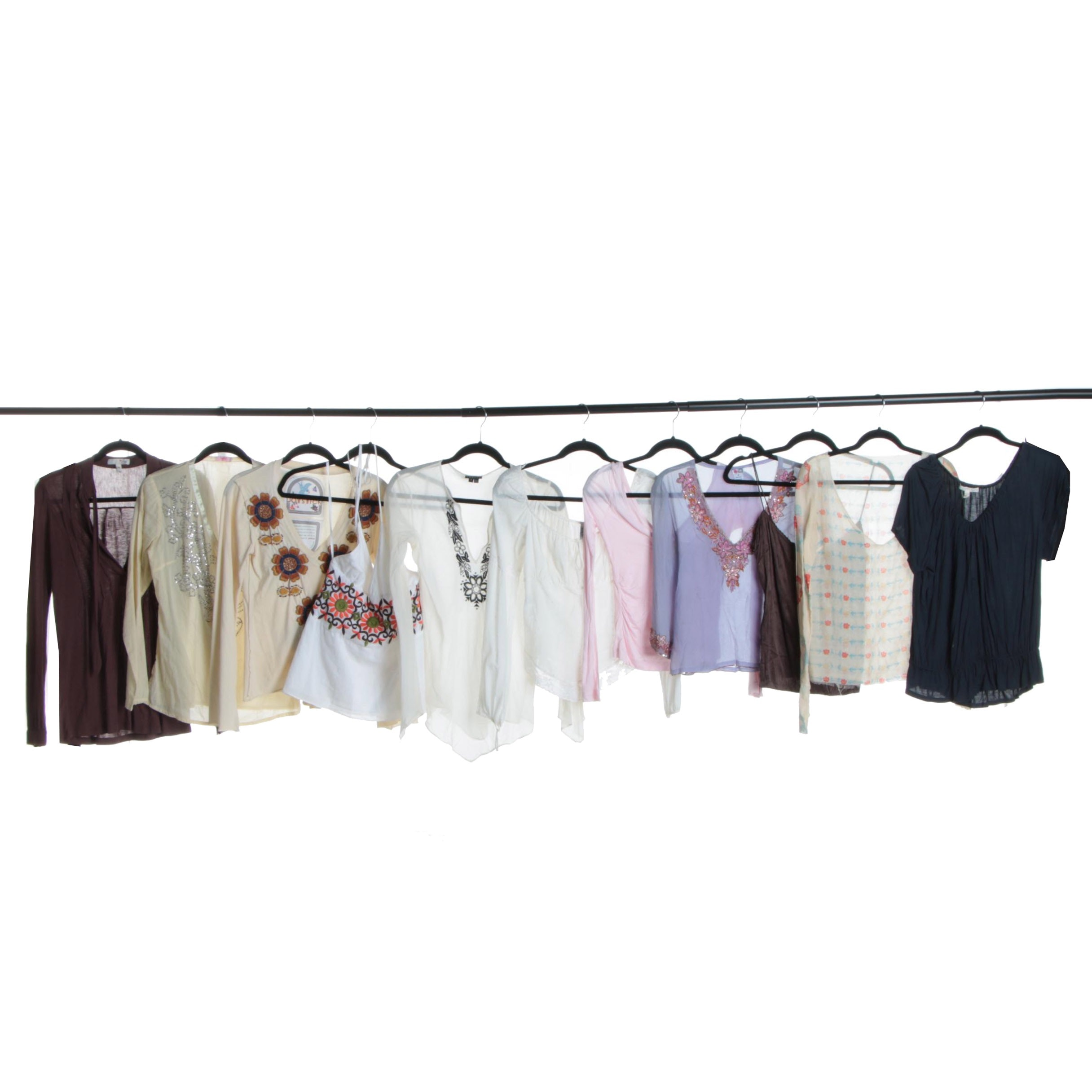 Women's Contemporary Tops Including Theory and Diane von Furstenberg