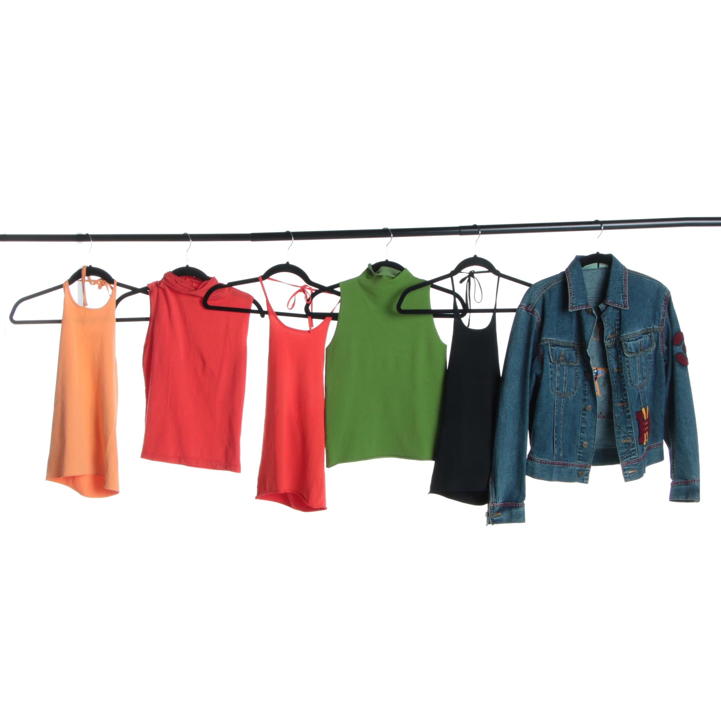 Women's DKNY Sleeveless Tops and Jean Jacket