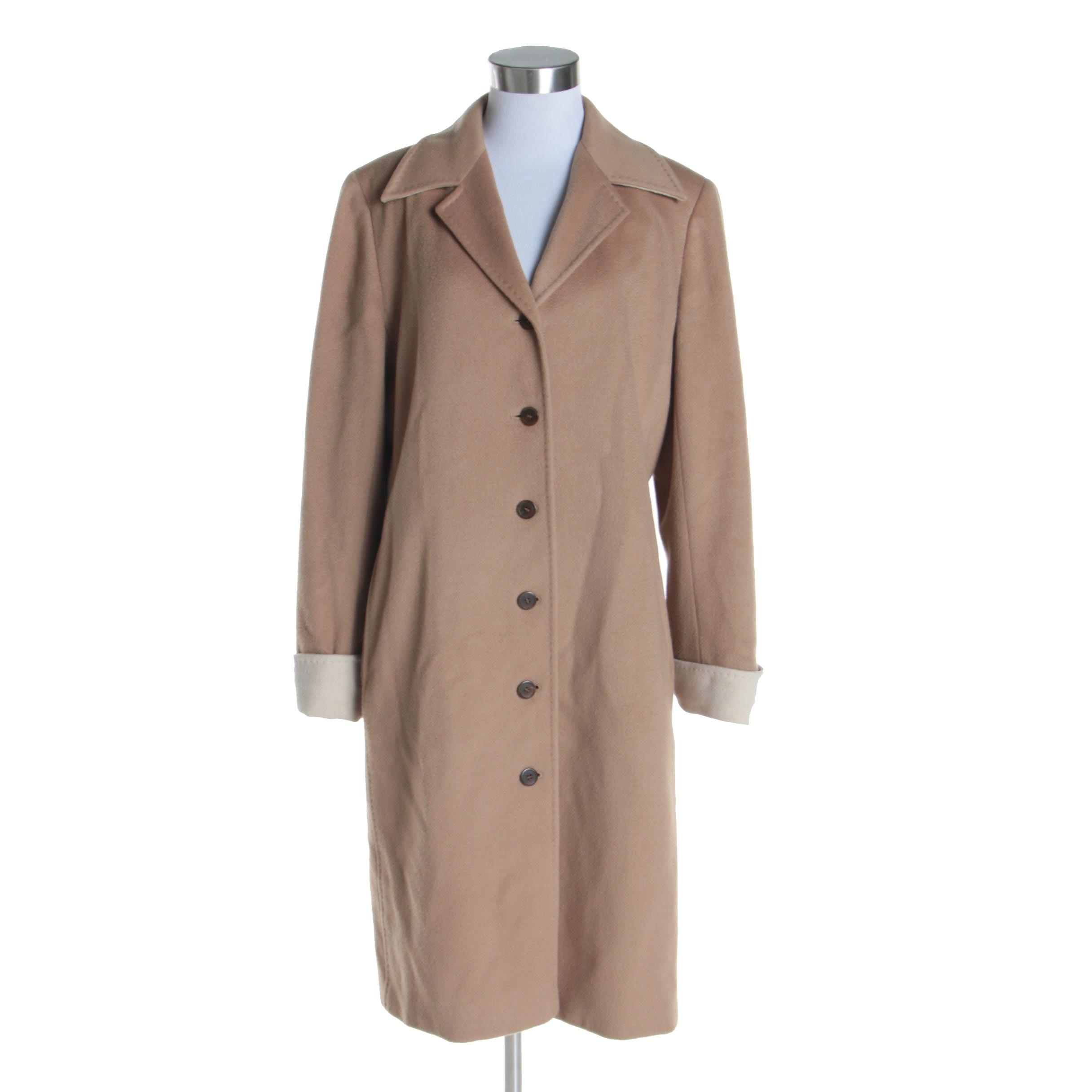 Women's Vintage Bill Blass Beige Cashmere Coat