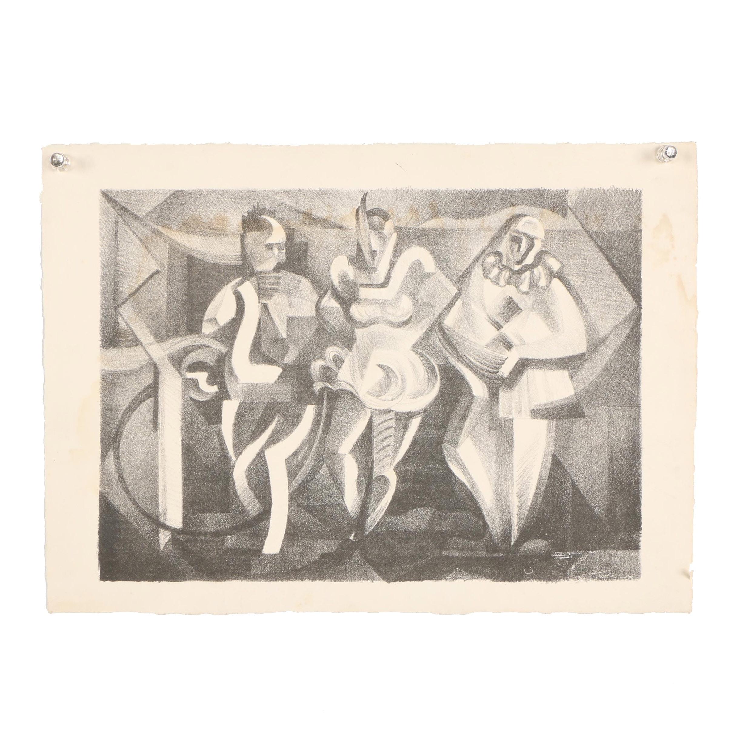 Arthur Helwig 20th Century Lithograph