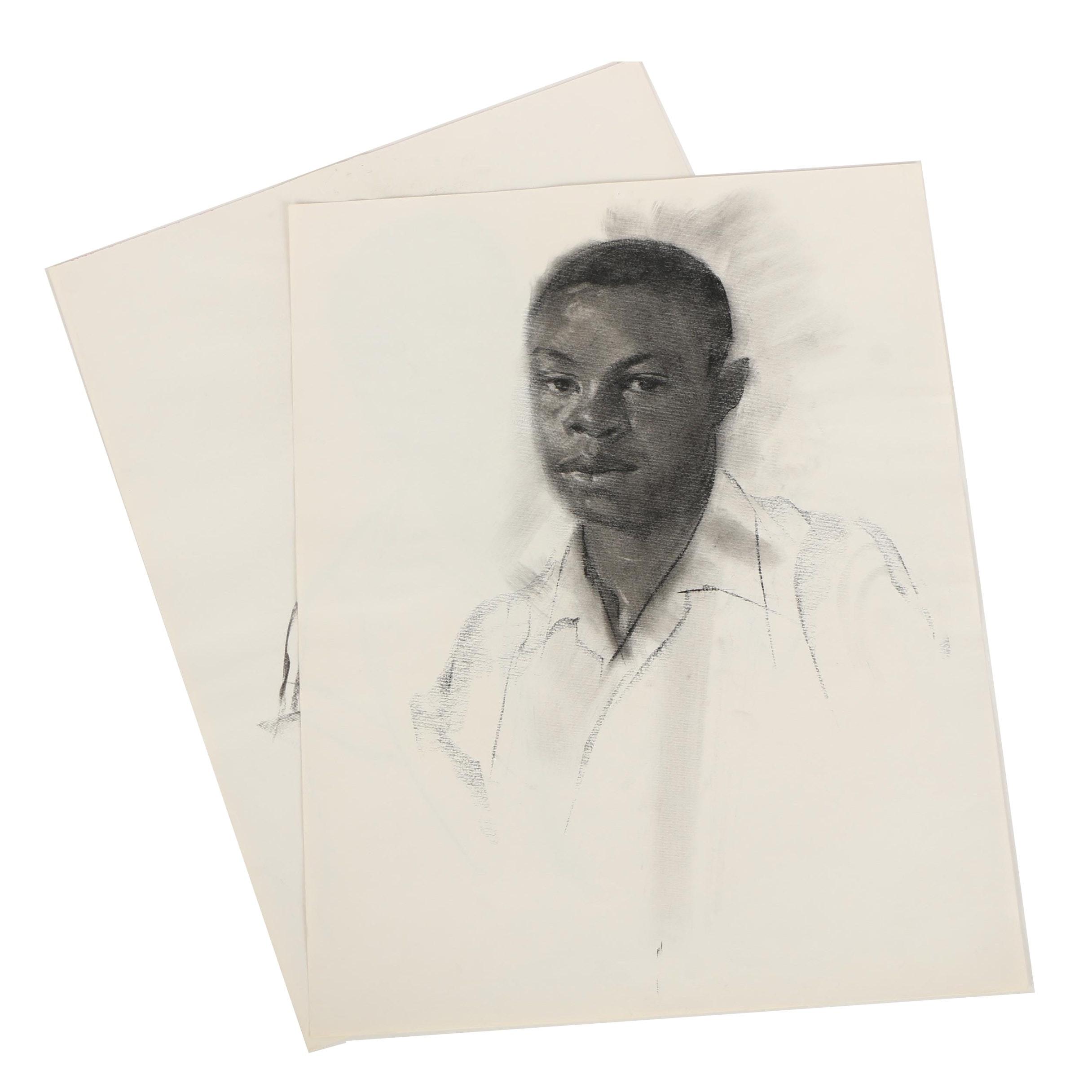 Carl Zimmerman Charcoal Drawings