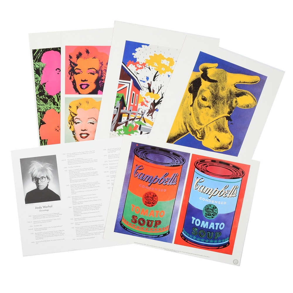 Portfolio of Six Offset Lithographic Reproductions after Andy Warhol Works