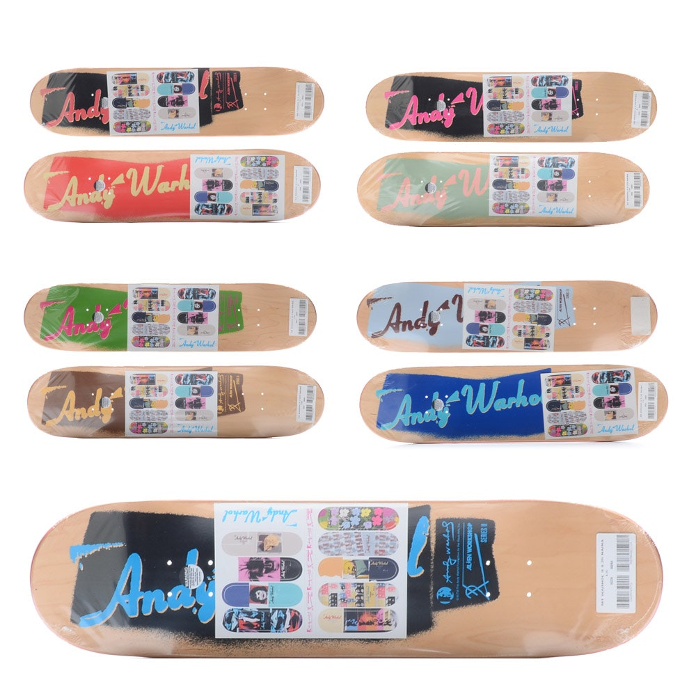 Alien Workshop x Andy Warhol Foundation Complete Series II Skateboard Decks