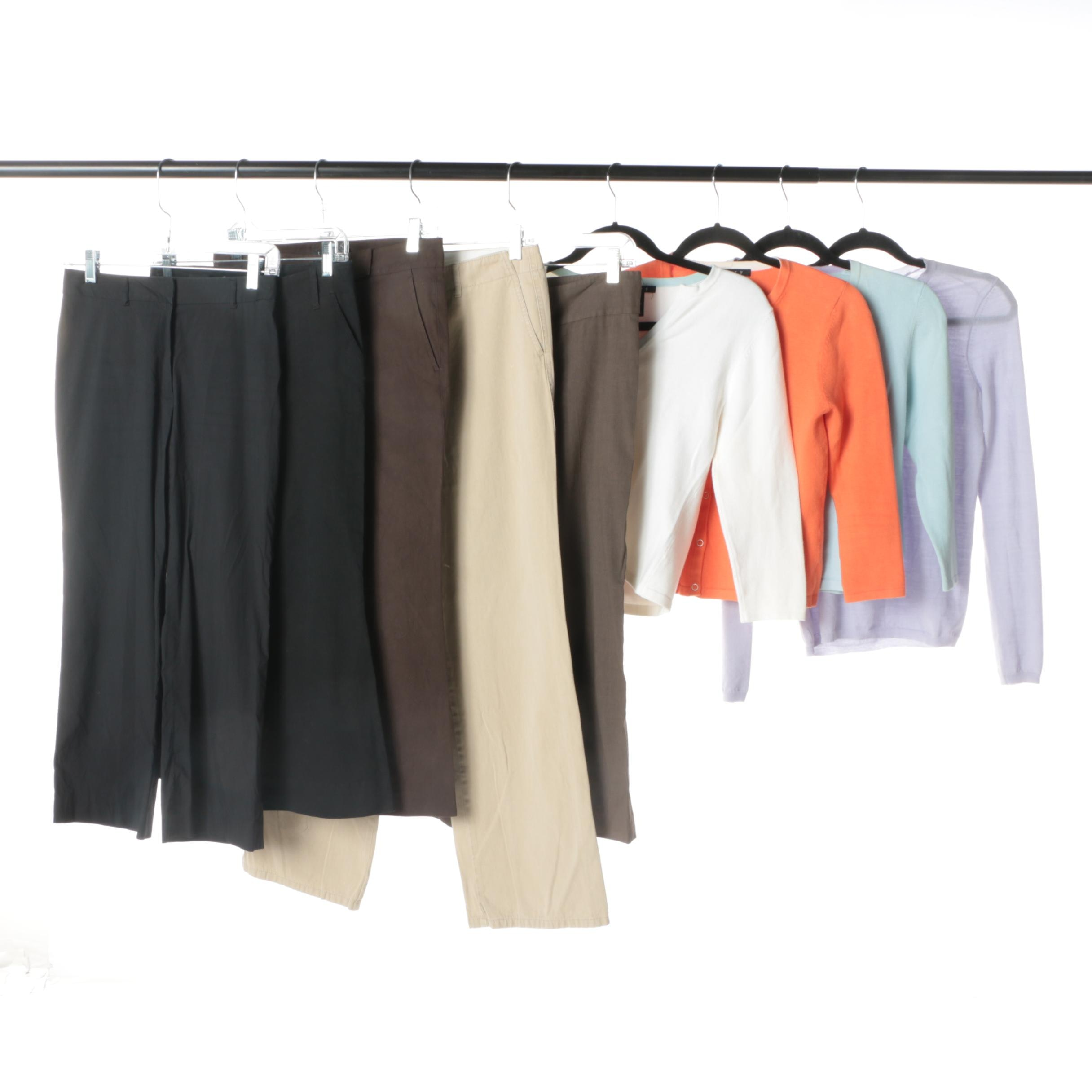 Women's Theory Cardigans, Sweater and Trousers