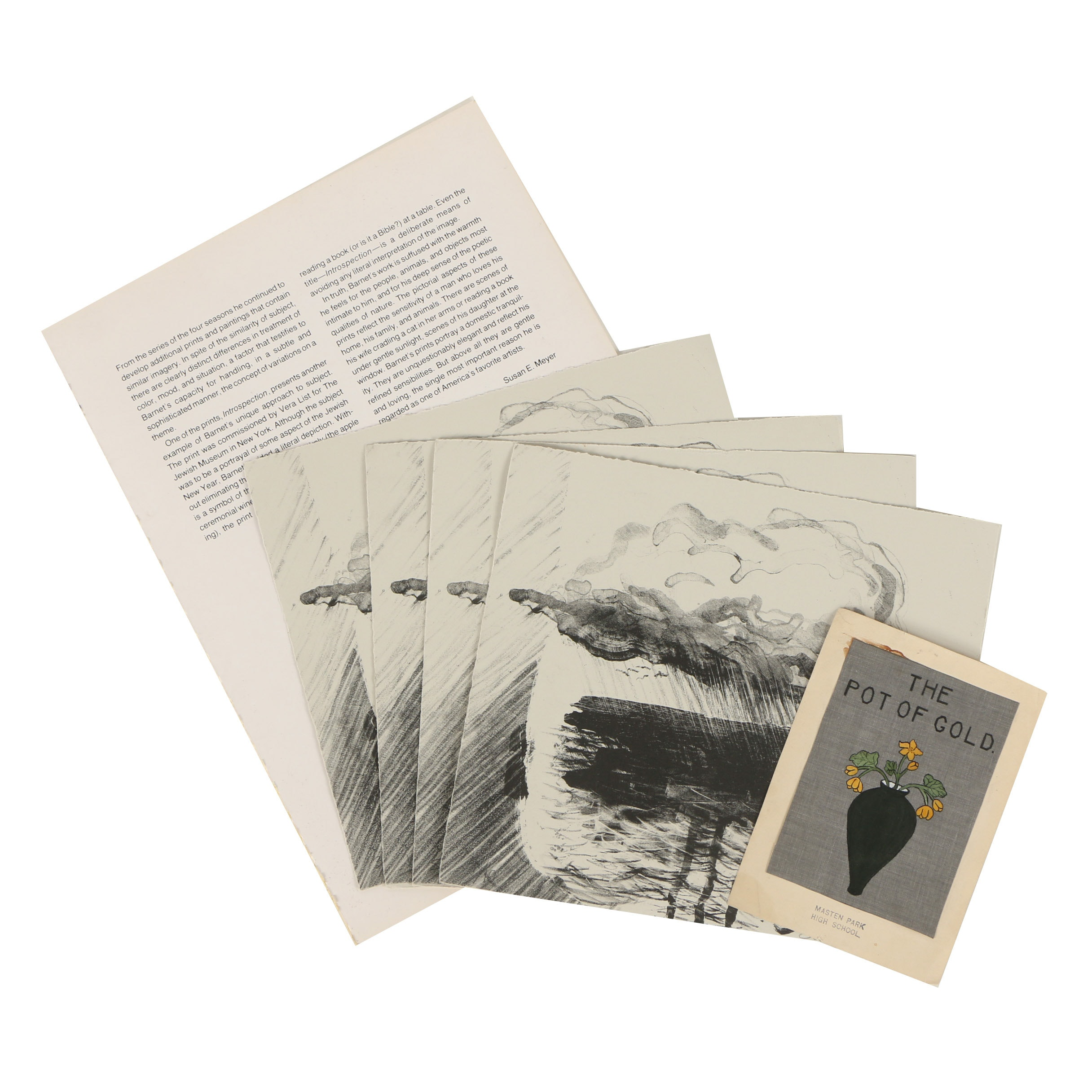 Eric L. Dates Offset Lithographs and Will Barnet Catalog