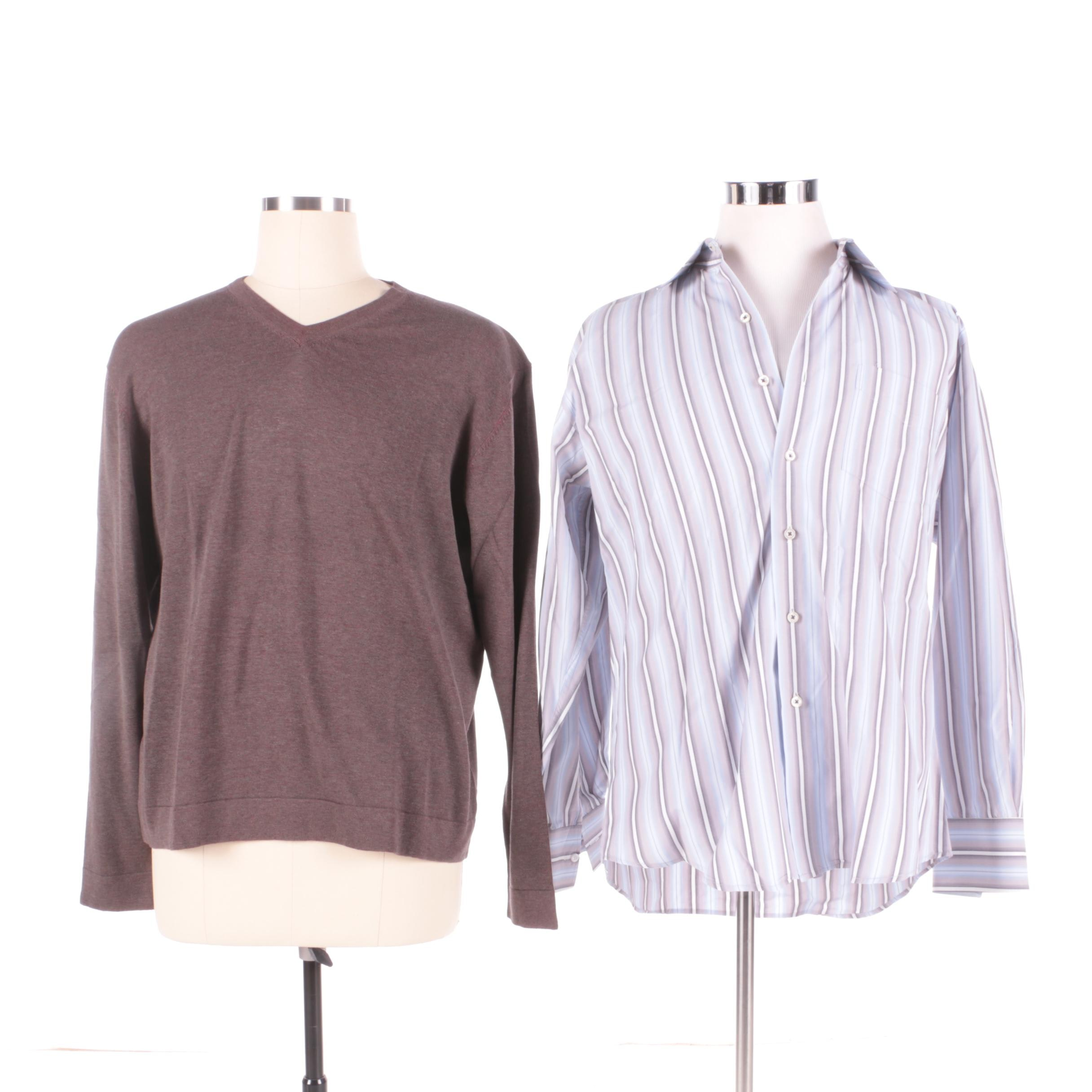 Men's Tulliano Sweater and Button-Front Shirt