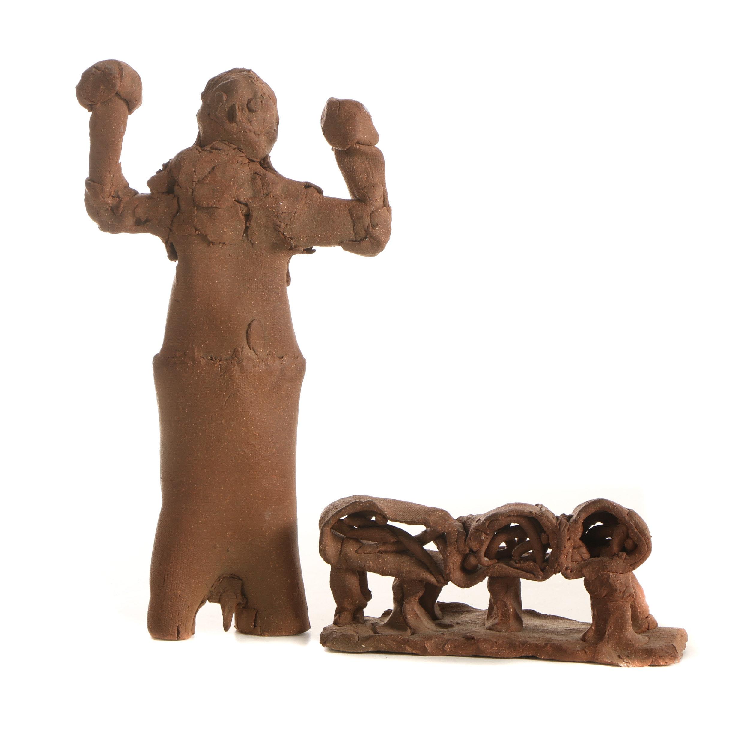 Seth Tuska Stoneware Sculptures