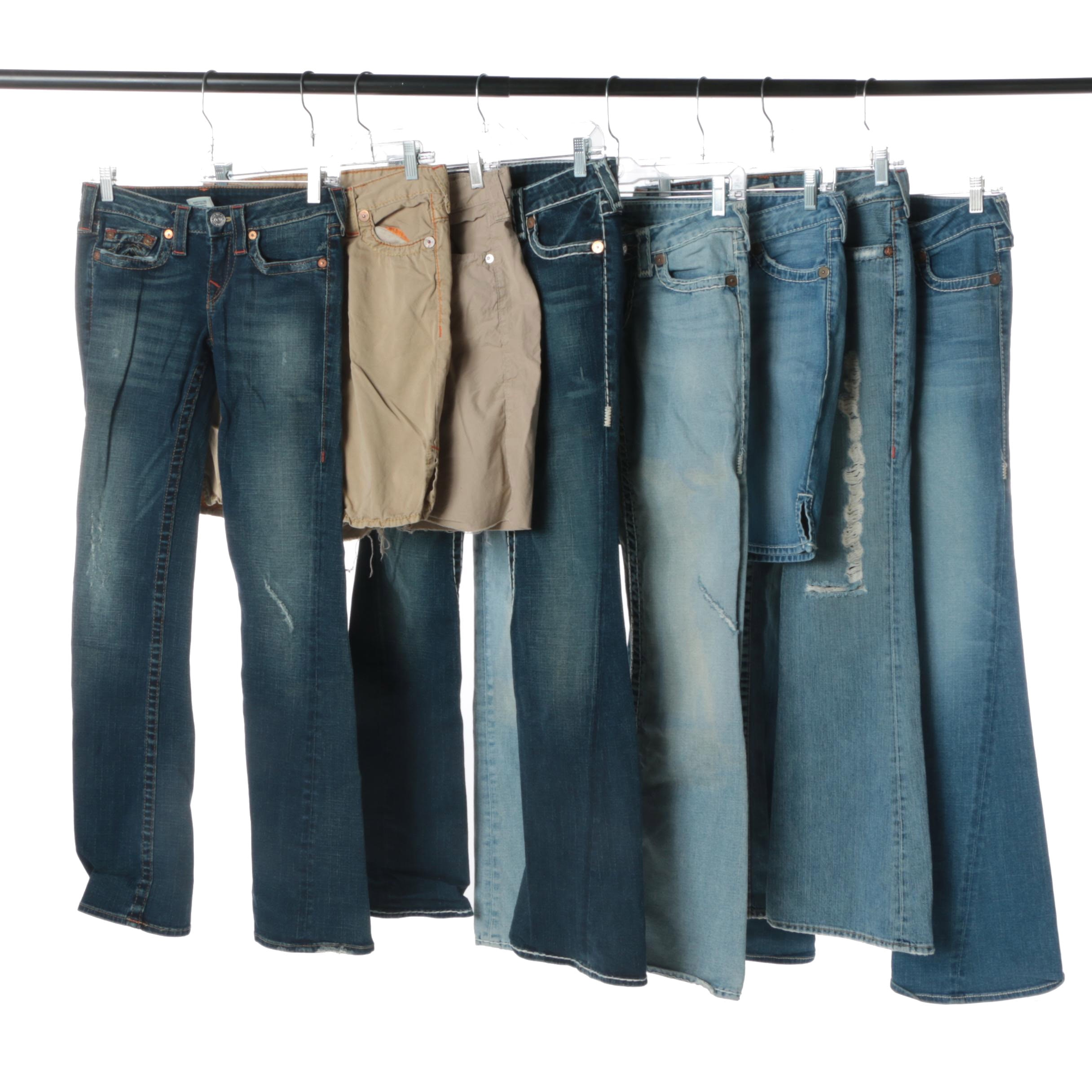 Women's Jeans and Shorts Including True Religion Brand Jeans