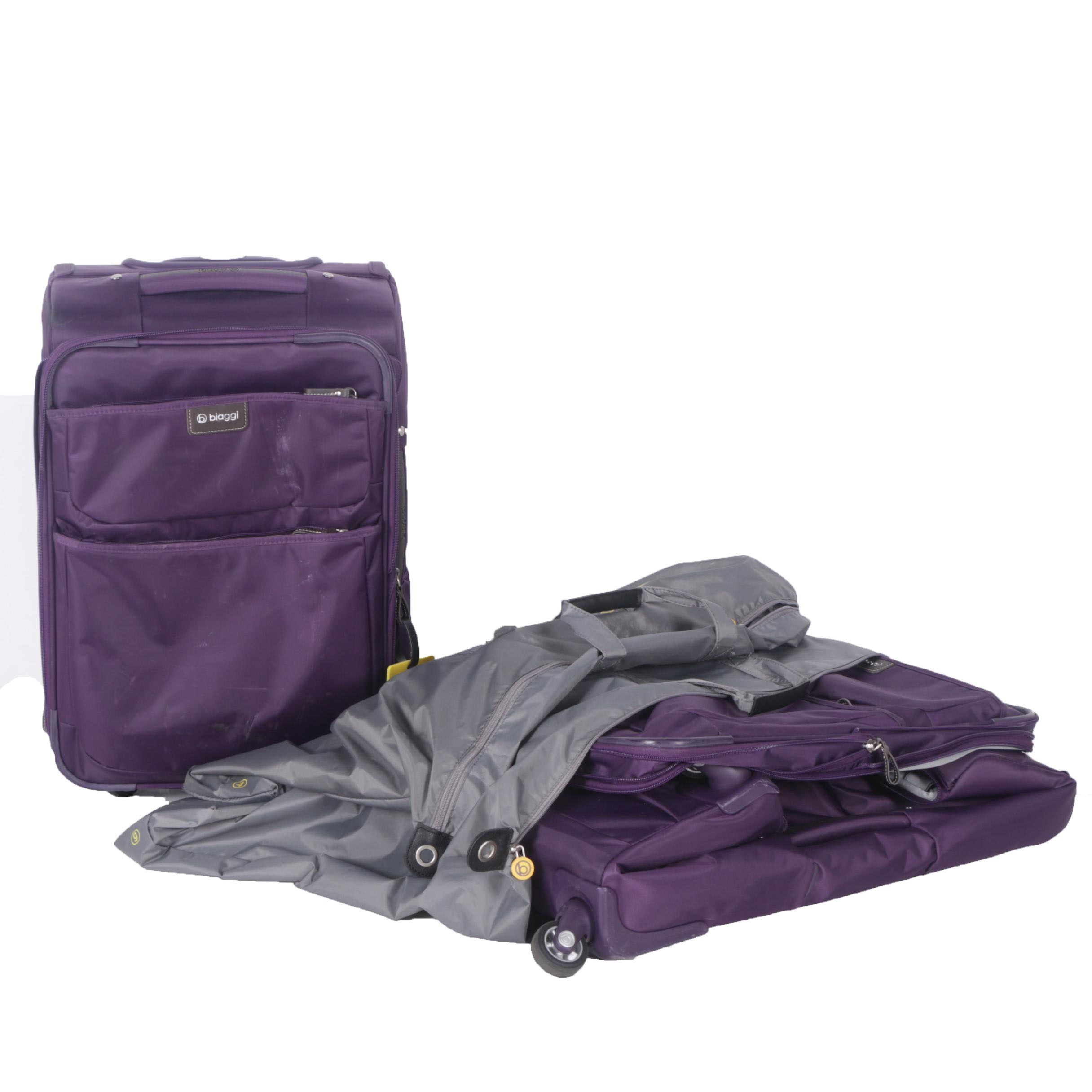 "Biaggi ""Contempo"" Purple Expandable Upright and Expandable Carry-On Luggage"