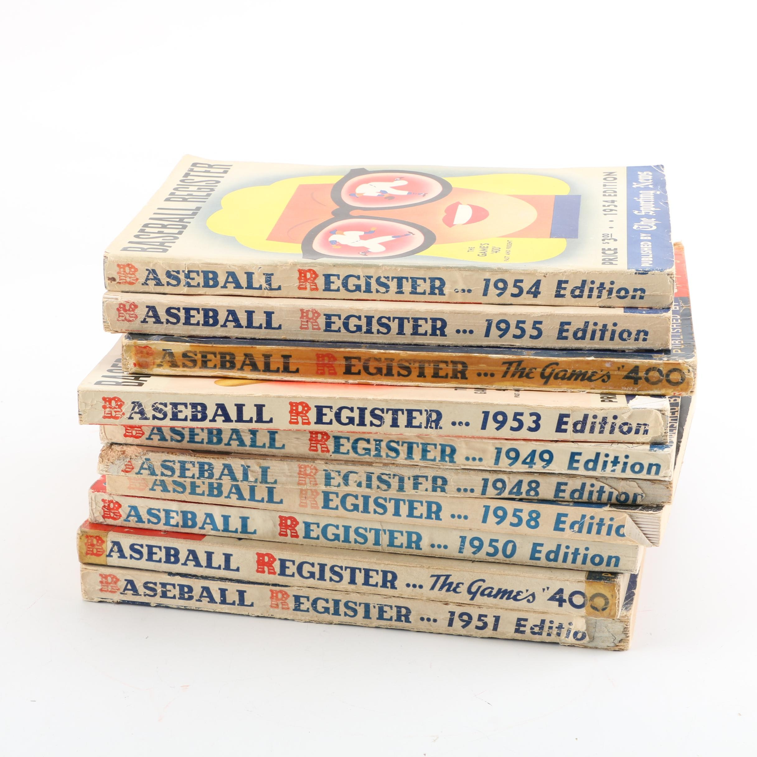 """1940s–1950s """"Baseball Register"""" Published by The Sporting News"""