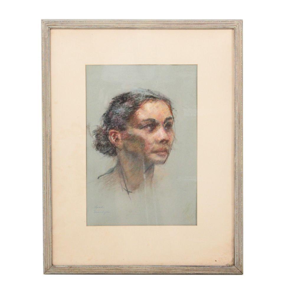 Edrie Leah Frandzel Original Pastel Portrait