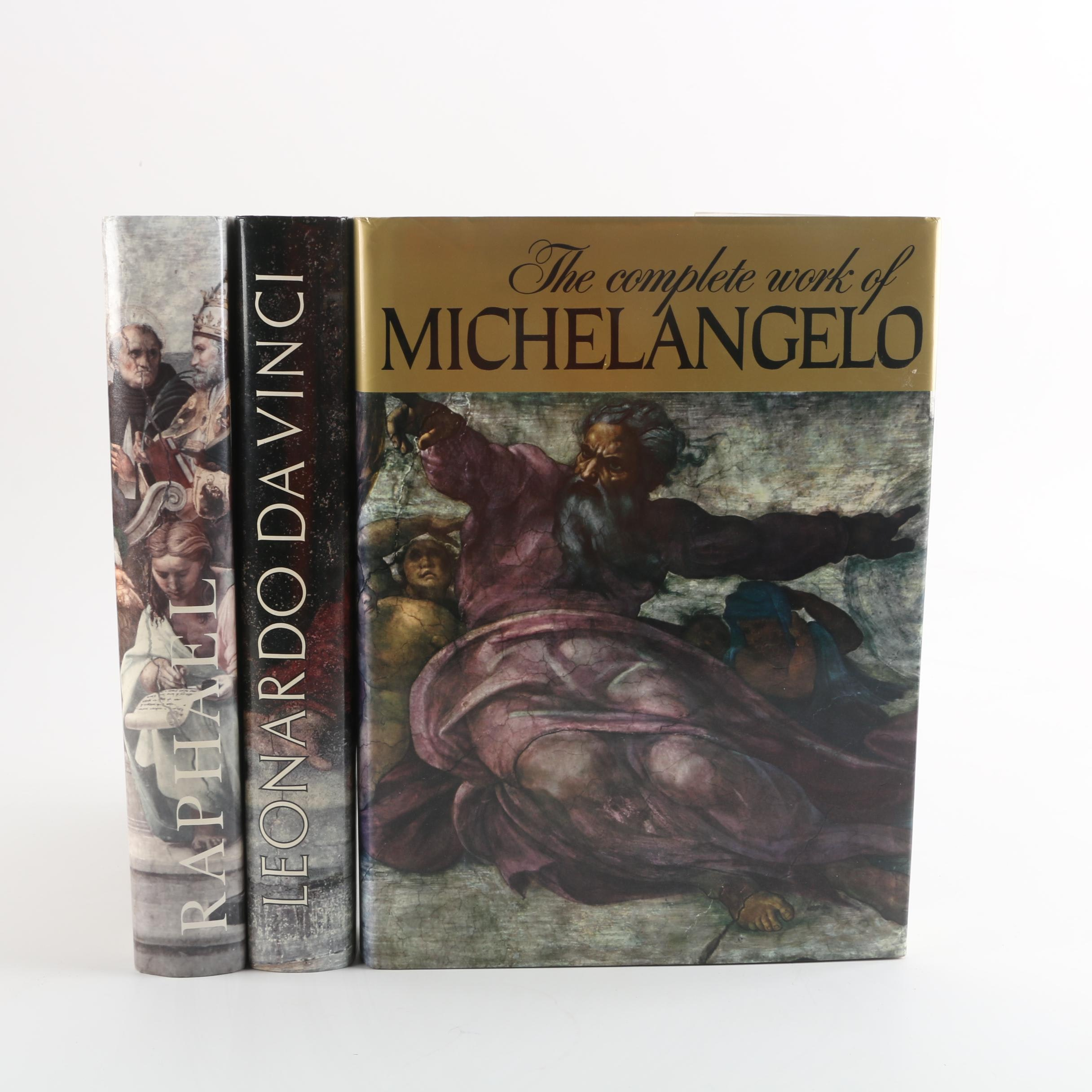 """Art Books Including """"The Complete Work of Michelangelo"""""""