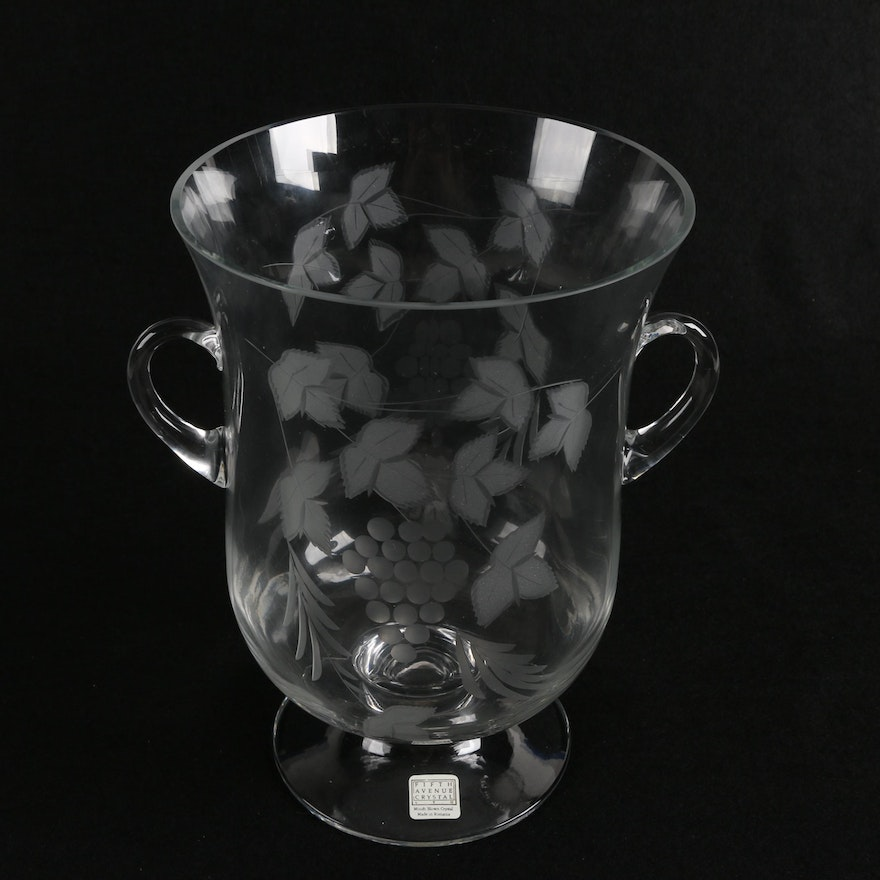 Contemporary Fifth Avenue Crystal Mouth Blown And Etched Crystal