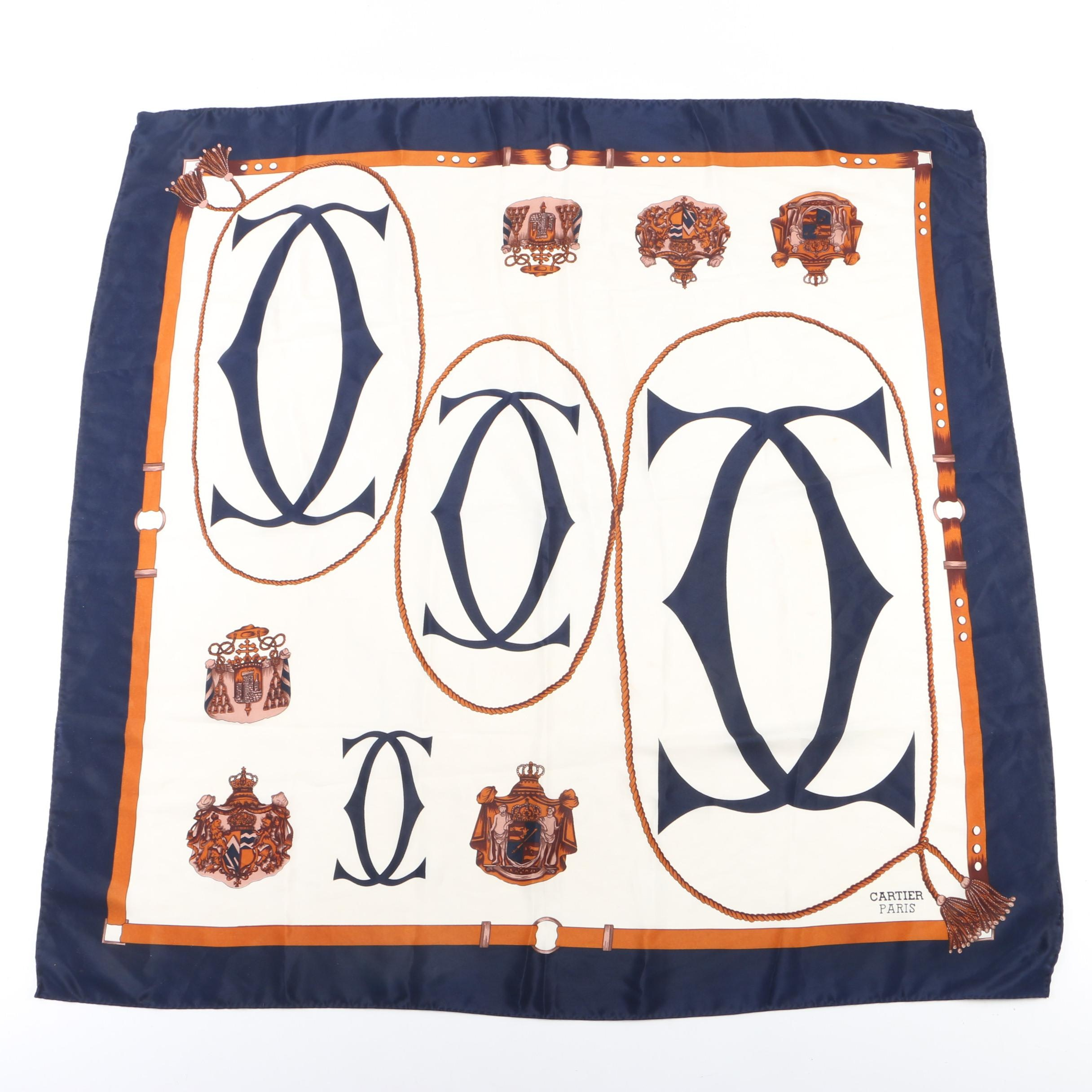 Cartier Paris Silk Scarf