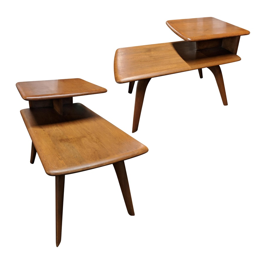 Small Mid Century Modern End Tables: Heywood Wakefield Mid-Century Modern End Tables