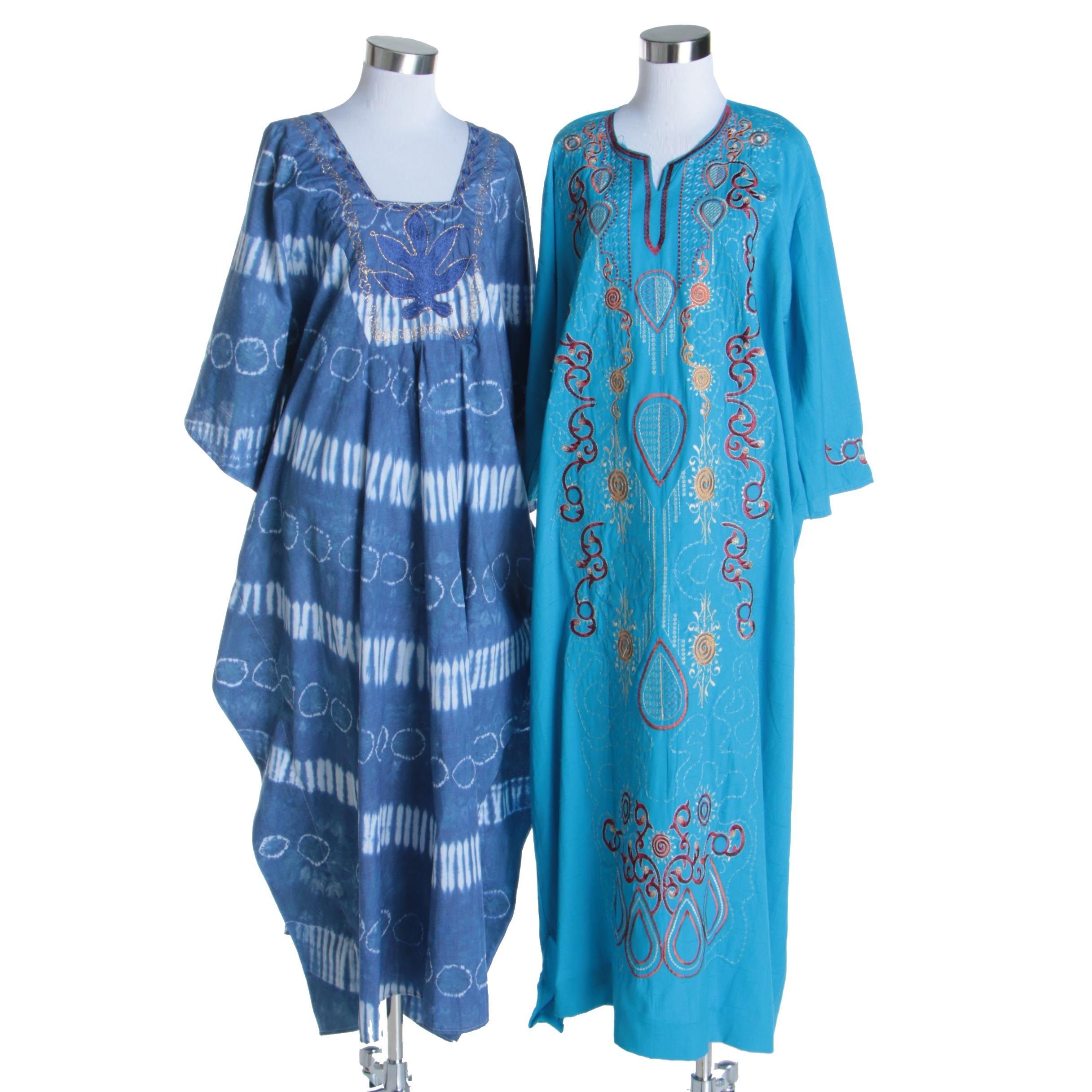 Women's Vintage Embroidered Caftan and Thobe
