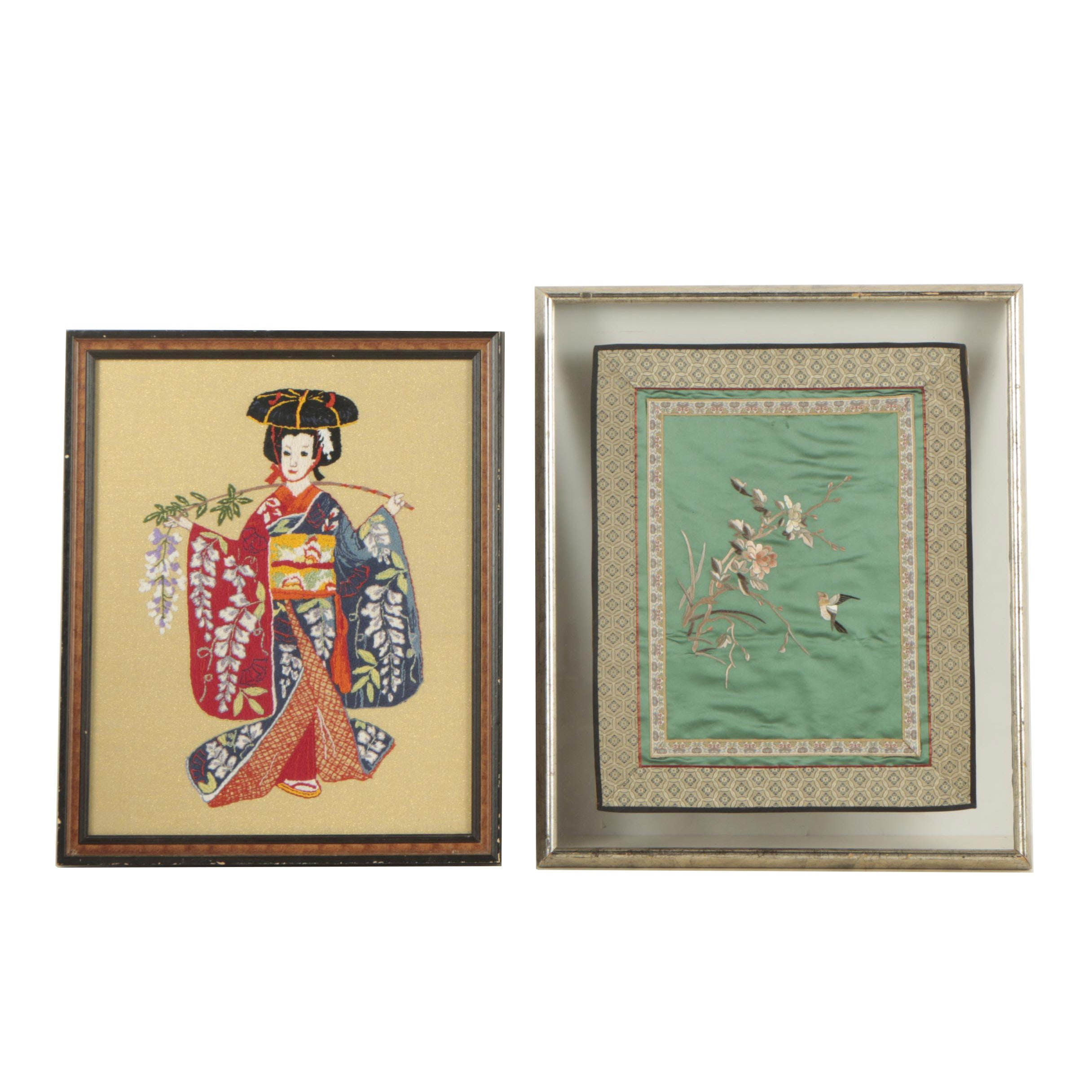 Japanese Inspired Needlepoint and Chinese Embroidery