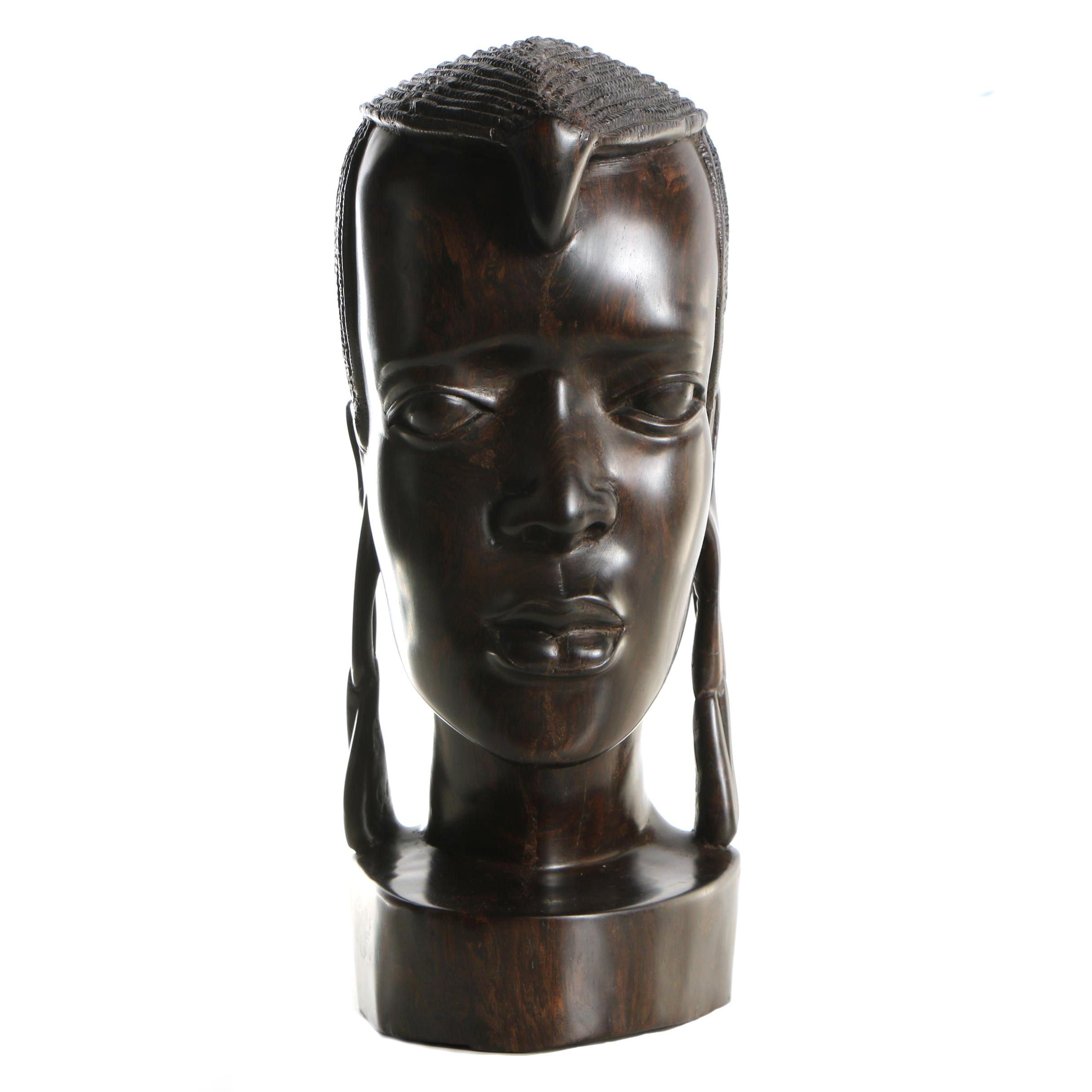 Maasai Style Wood Bust