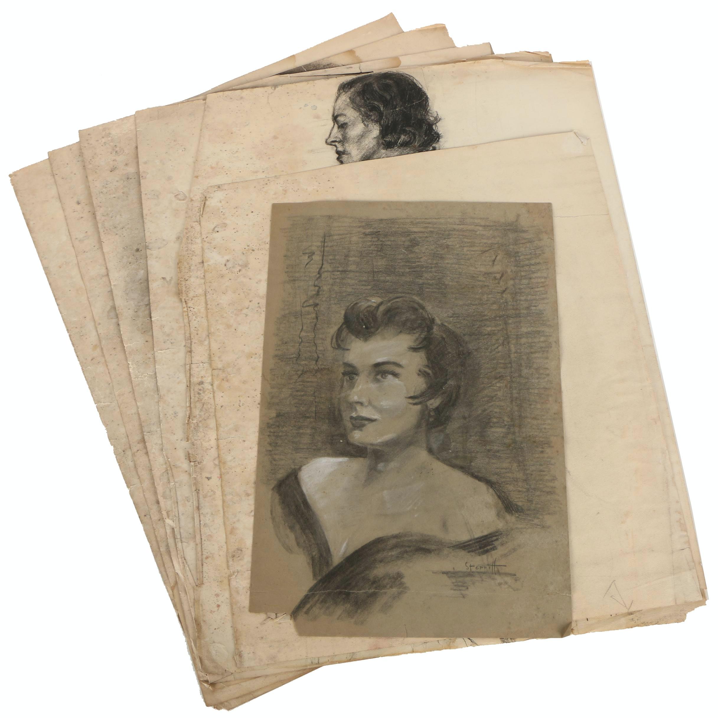 Paul Sterritt Charcoal Portrait Drawings