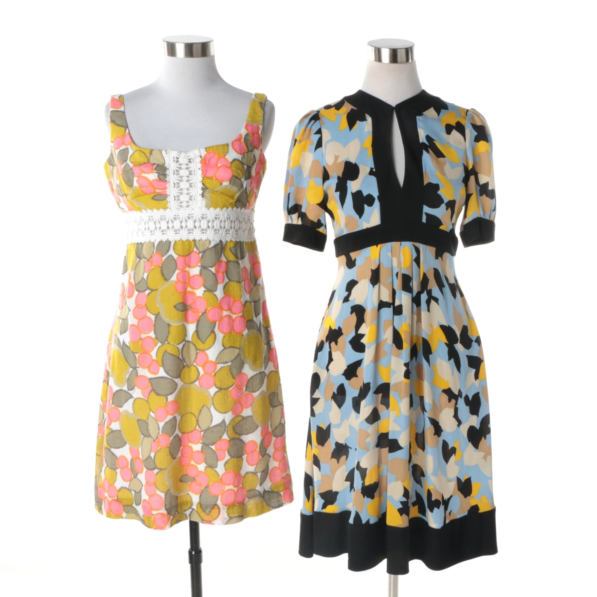 Women's Diane von Furstenberg and Milly Floral Print Dresses