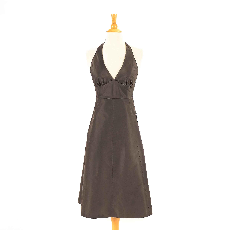 J. Crew Brown Silk Halter Dress : EBTH