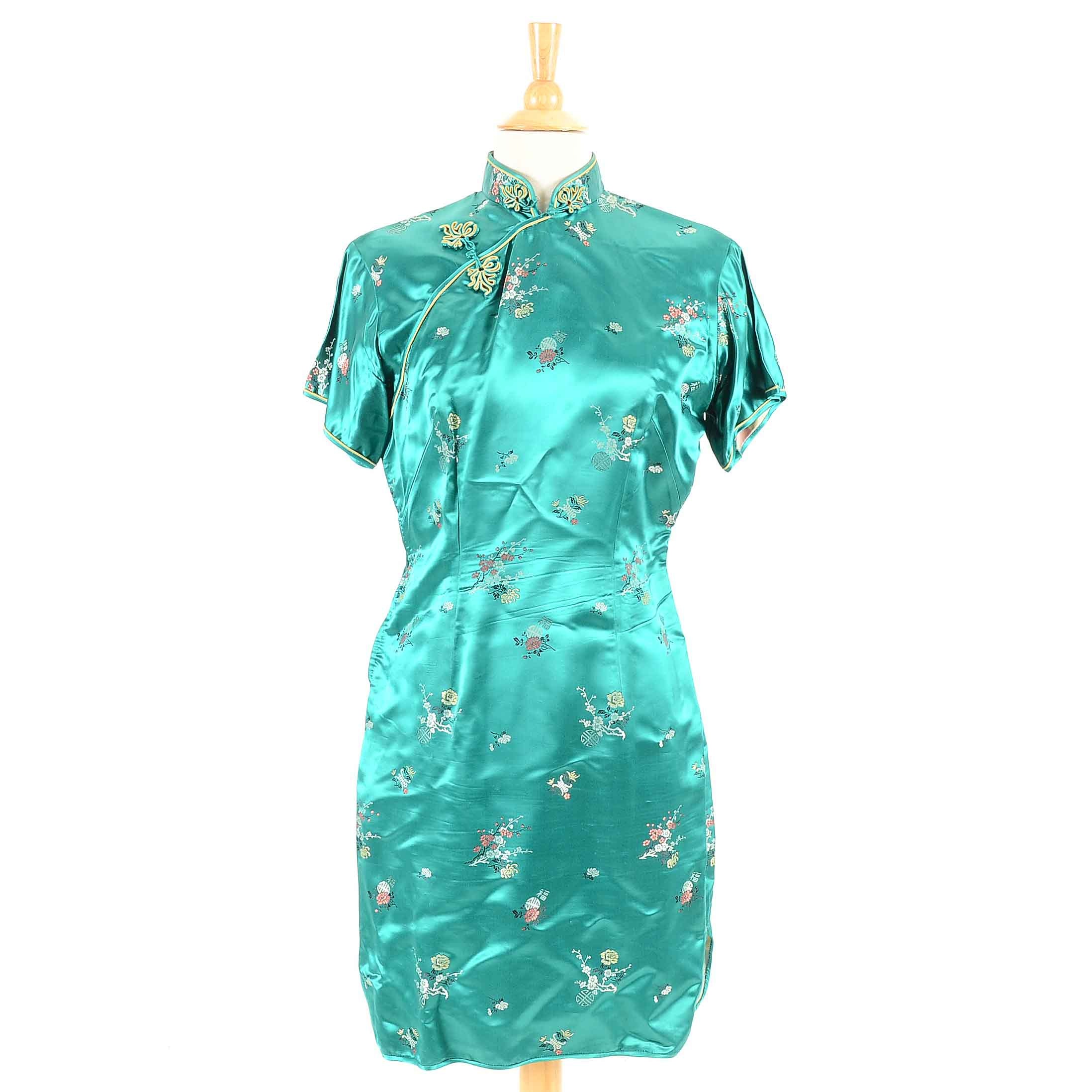 Chinese Silk Brocade Cheongsam Dress