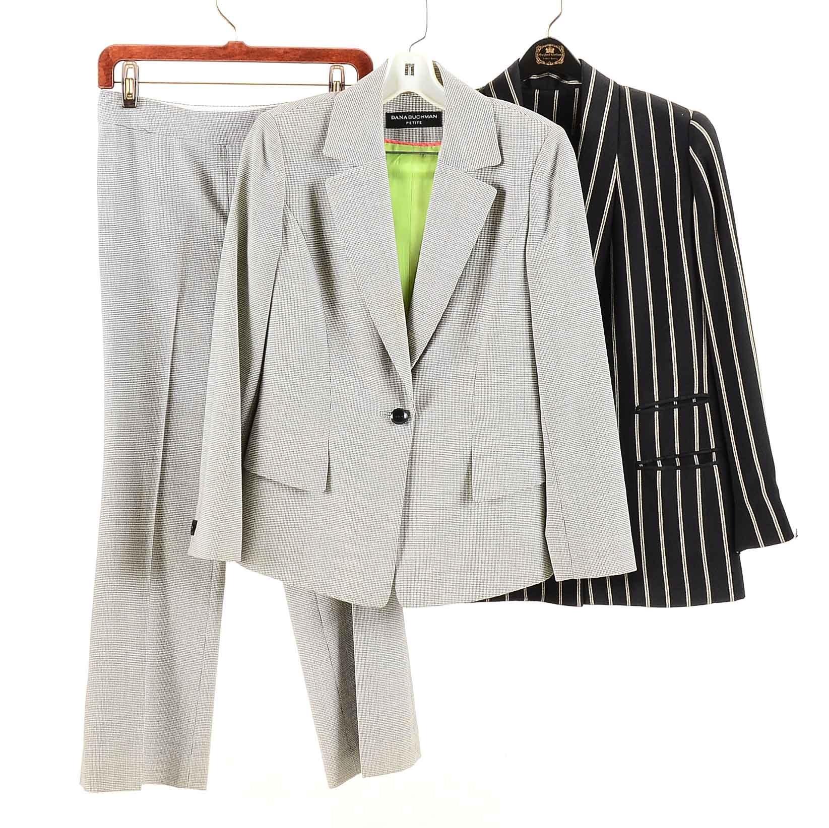 Women's Dana Buchman Petite Pant Suit and Blazer