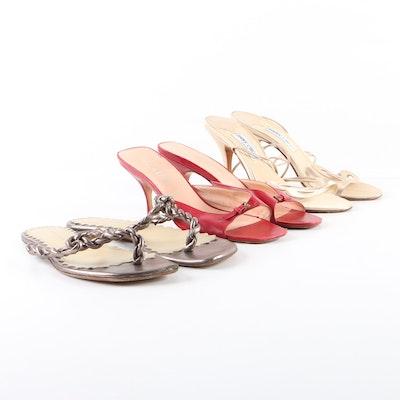 57ed0aeeb3ba Women s Leather Sandals Including Prada