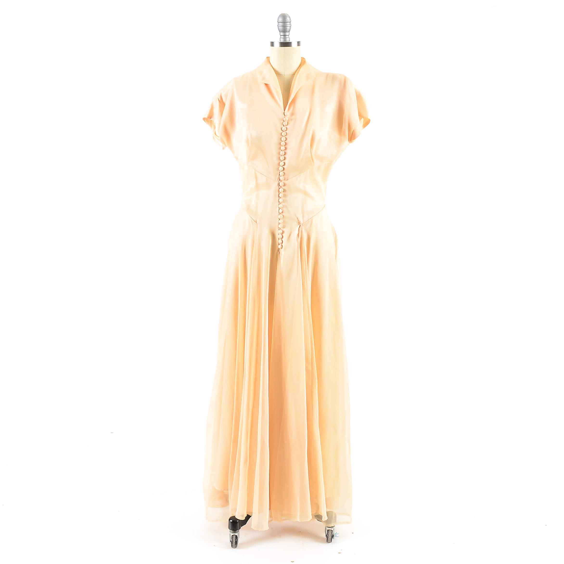 Vintage Evening Dress in Ivory