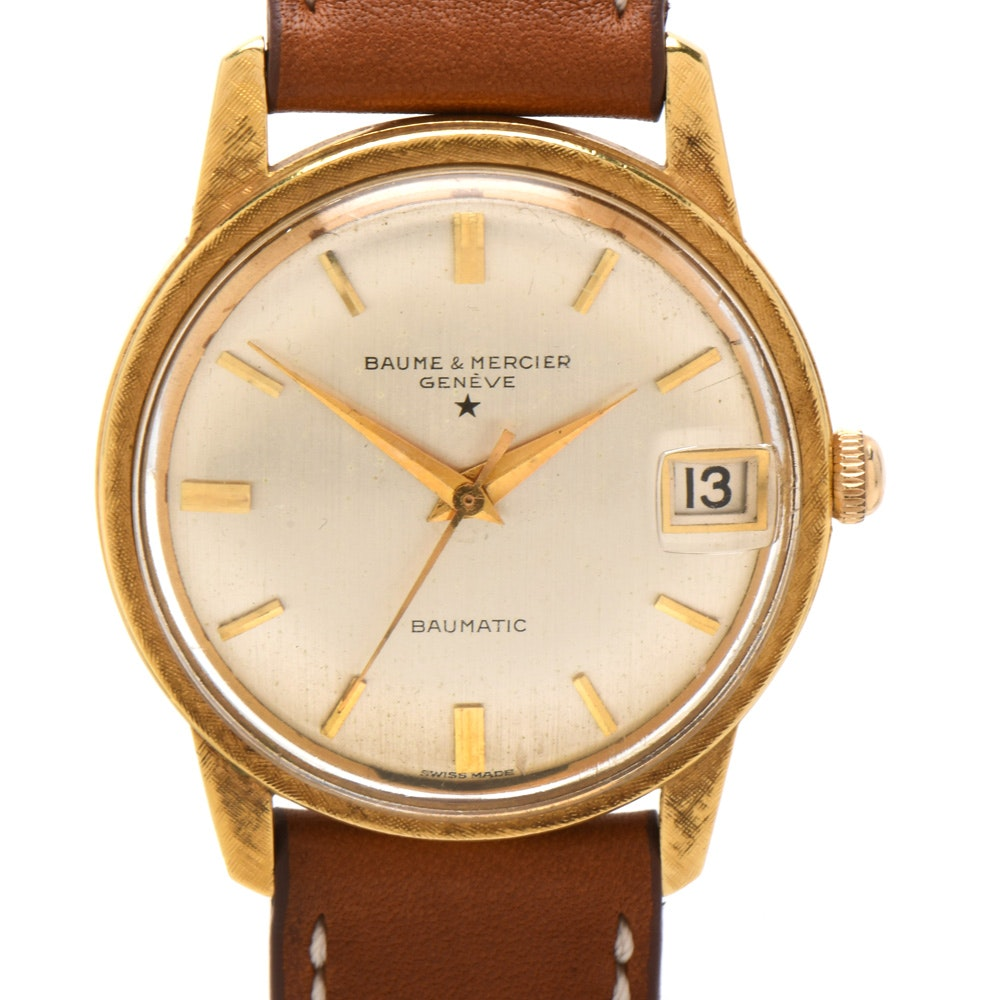Baume & Mercier 18K Yellow Gold Baumatic Date Wristwatch