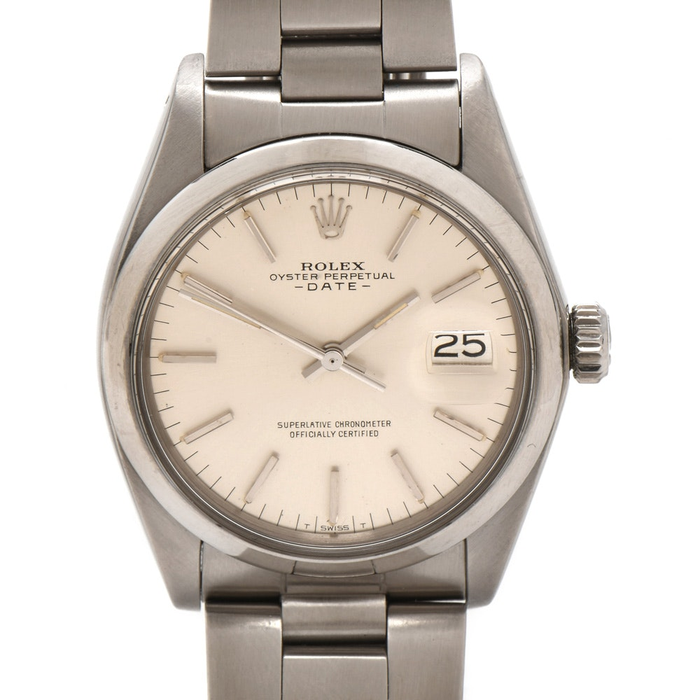 Rolex Oyster Perpetual Stainless Steel Wristwatch, Circa 1978
