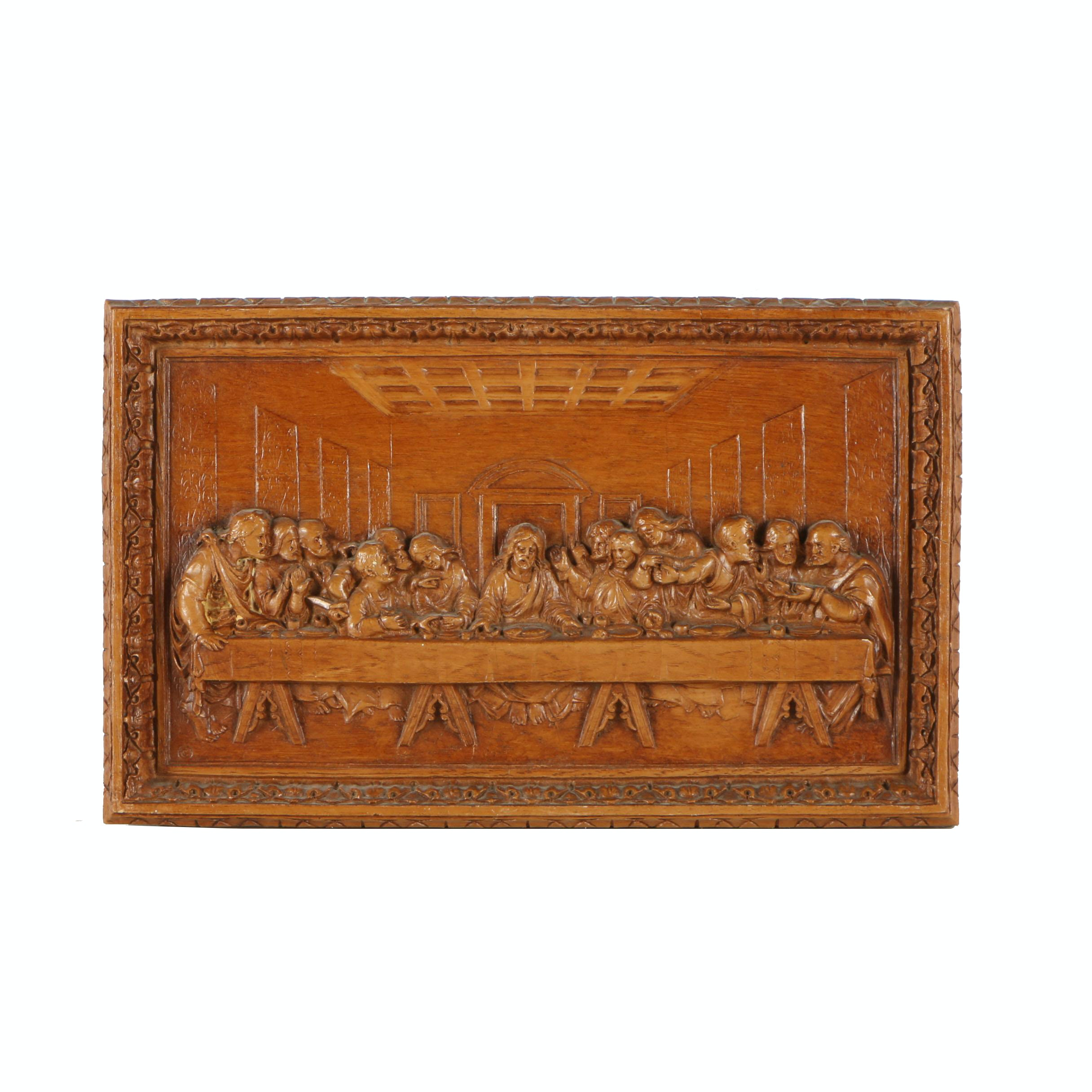 """Pressed Wood Wall Plaque """"The Last Supper"""""""