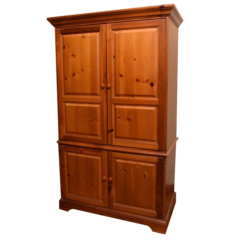 Bassett Furniture Pine Finish Media Cabinet