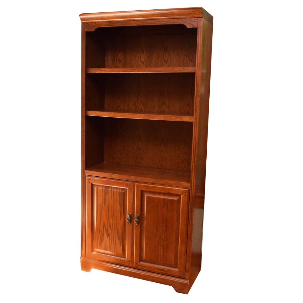Contemporary Cherry Finish Bookcase