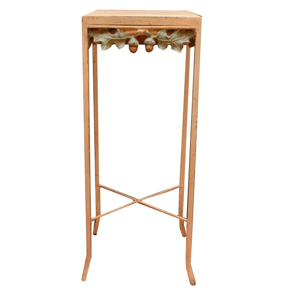 Painted Iron Plant Stand