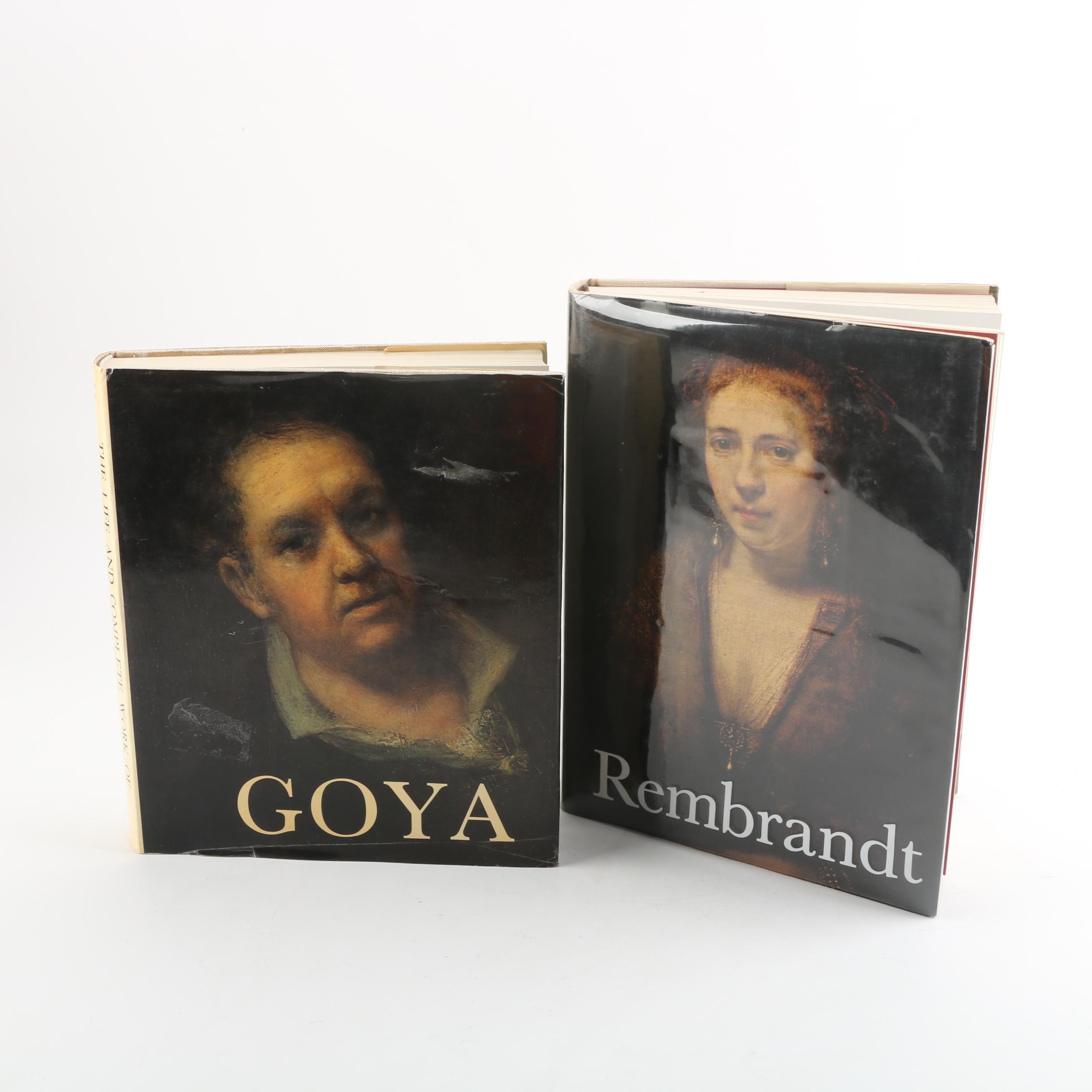 Goya and Rembrandt Art Books