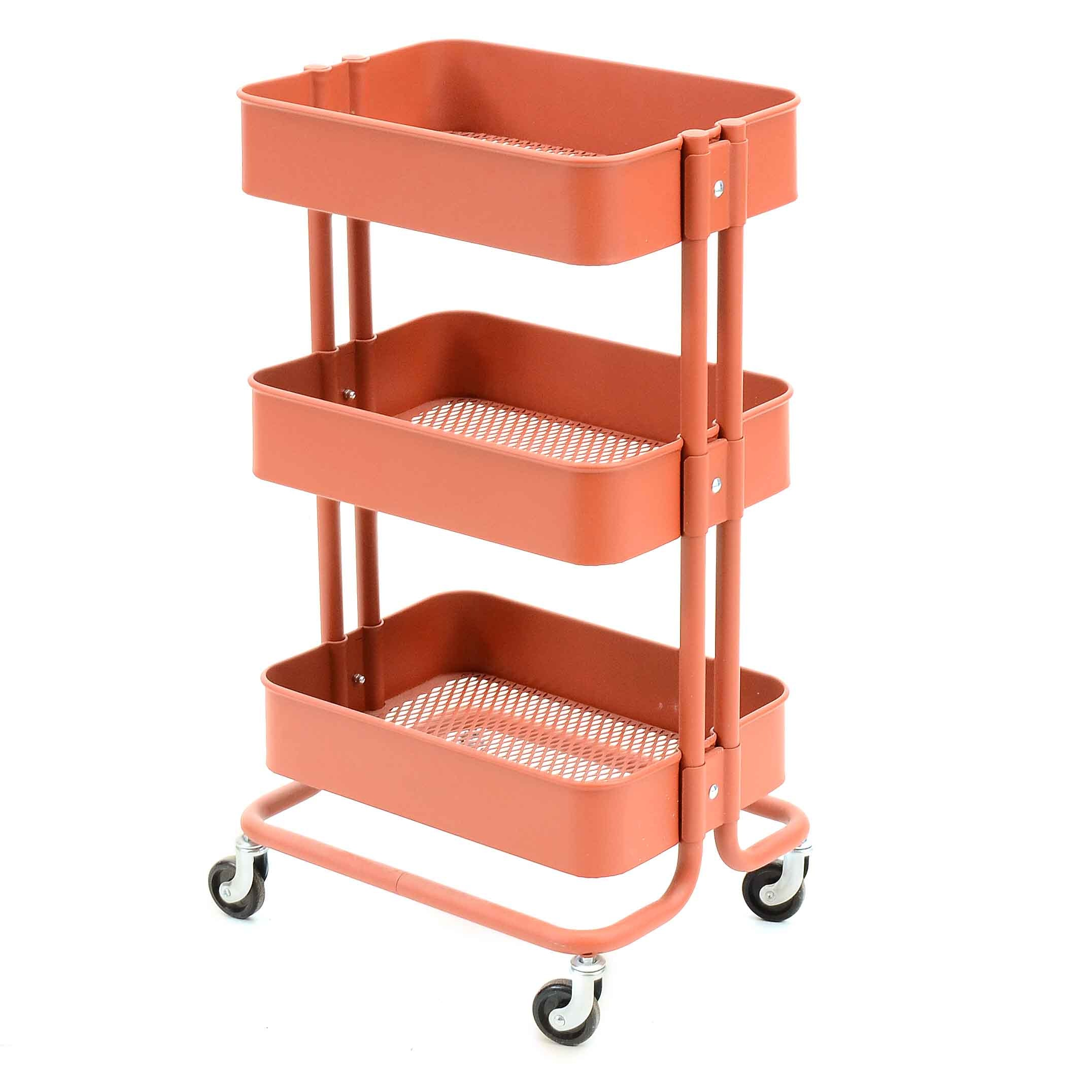 Rolling Tiered Metal Cart