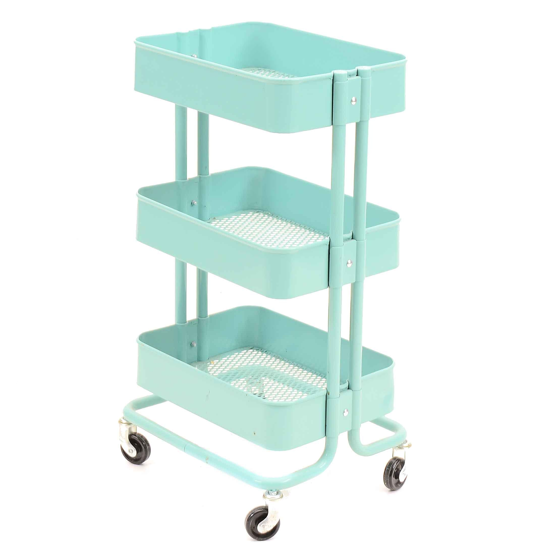 Rolling Metal Tiered Cart