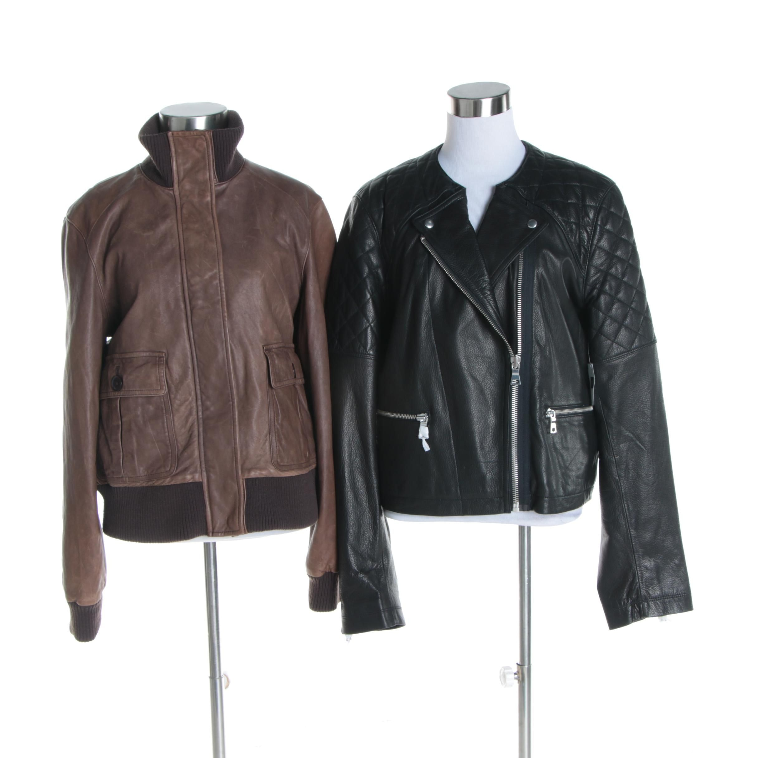 Women's Gap Leather Bomber and Motorcycle Jackets