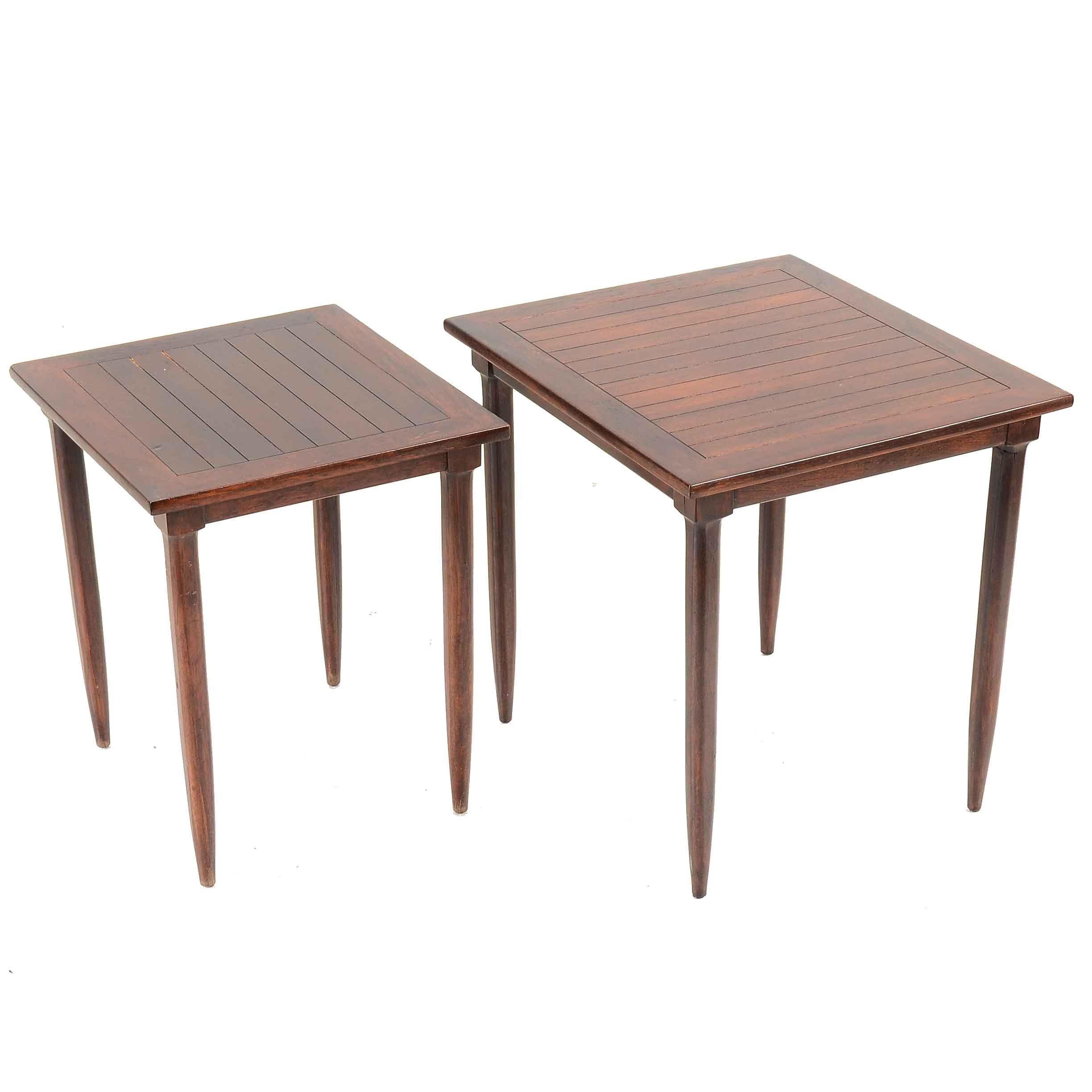 Two Mid Century Nesting Tables by Tomlinson