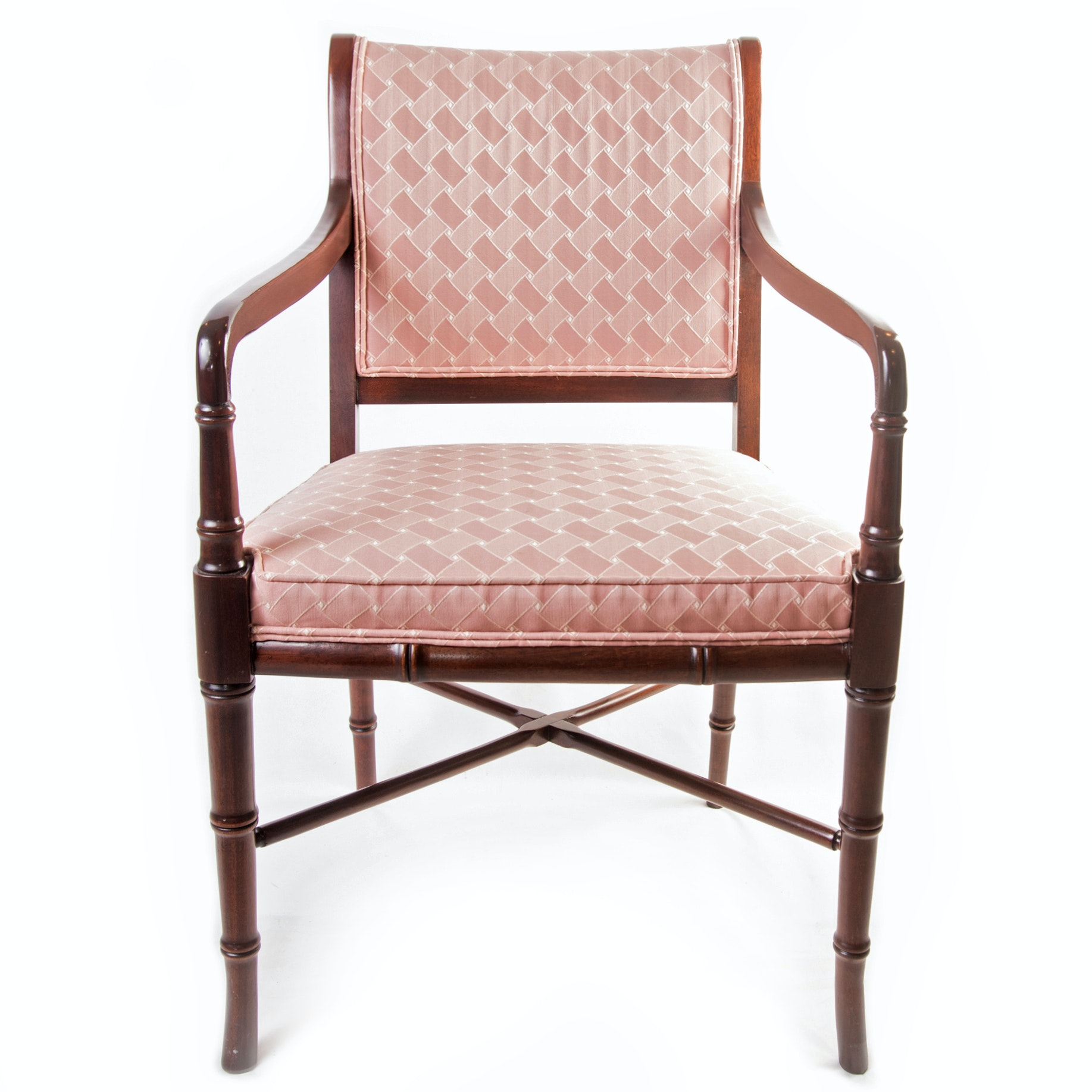 Mahogany Occasional Chair by Hickory Chair