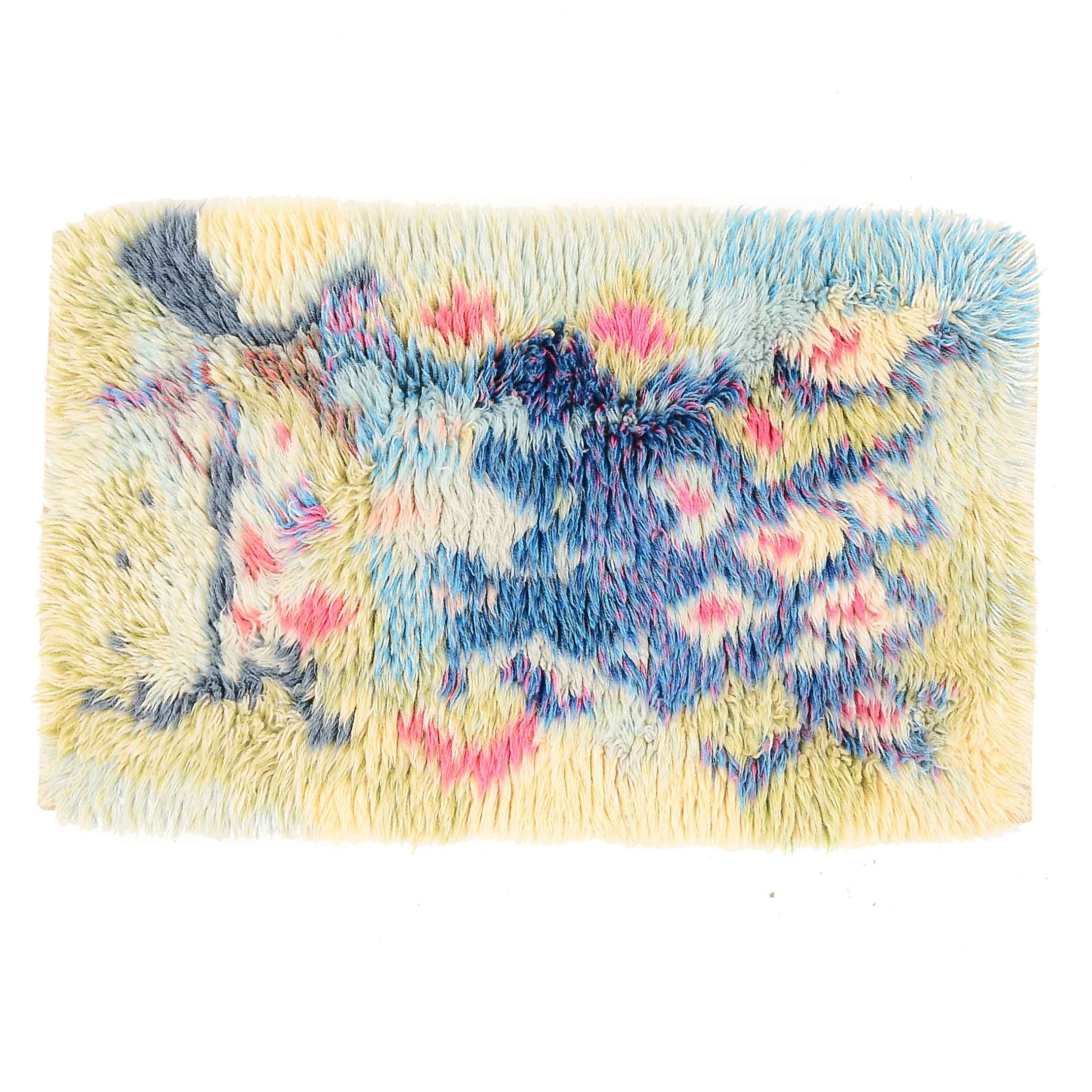 Hand-Knotted Rya Wool Accent Rug