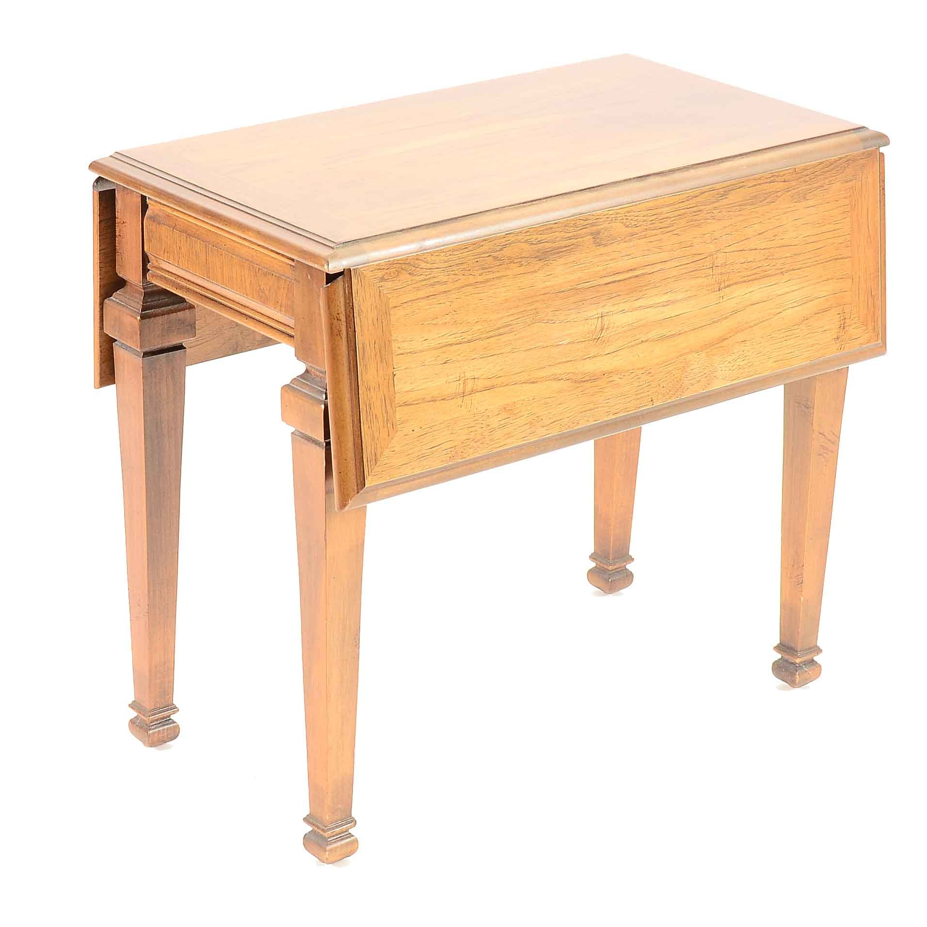Pecan Drop-Leaf End Table by Lane