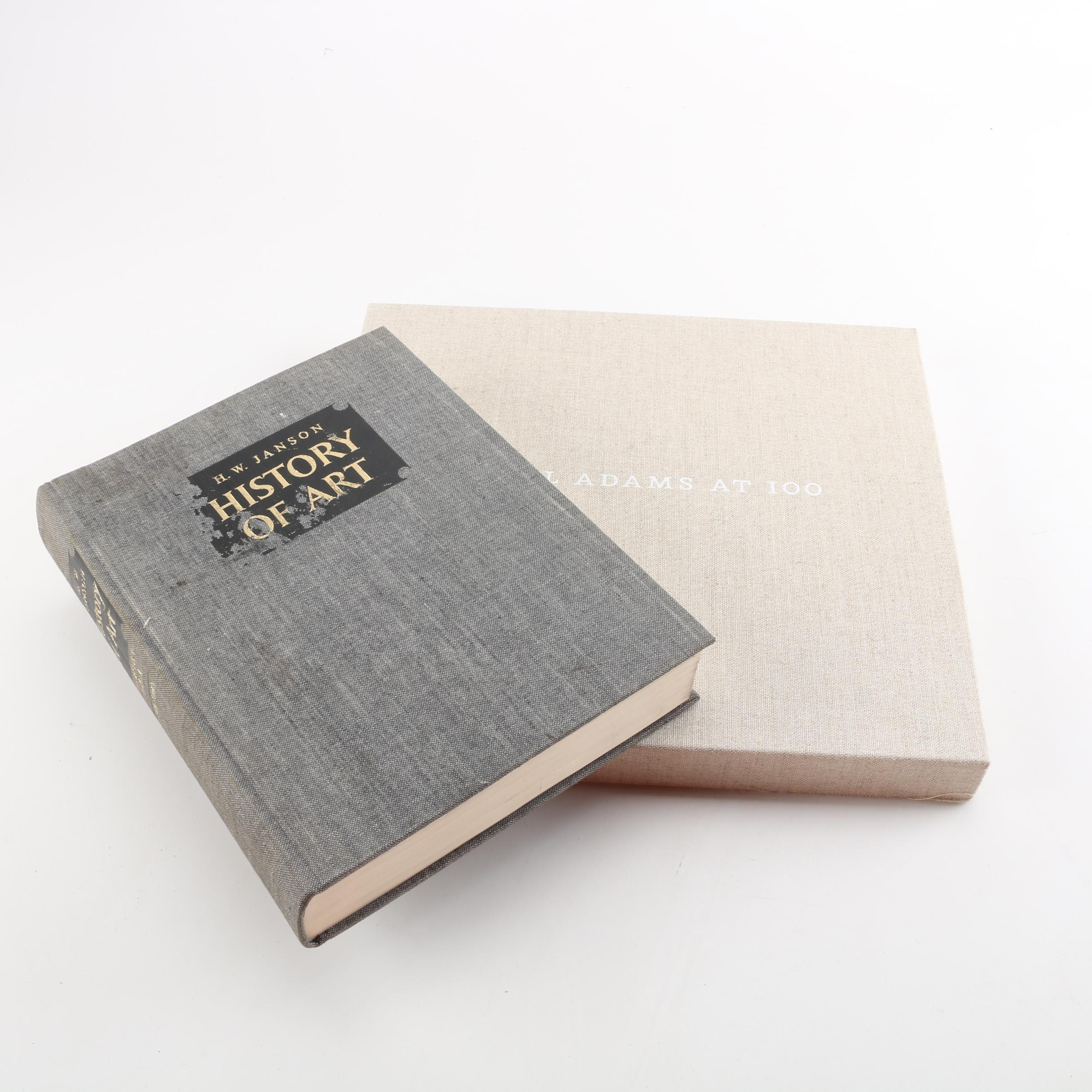"""First Edition """"Ansel Adams at 100"""" and """"History of Art"""" Books"""