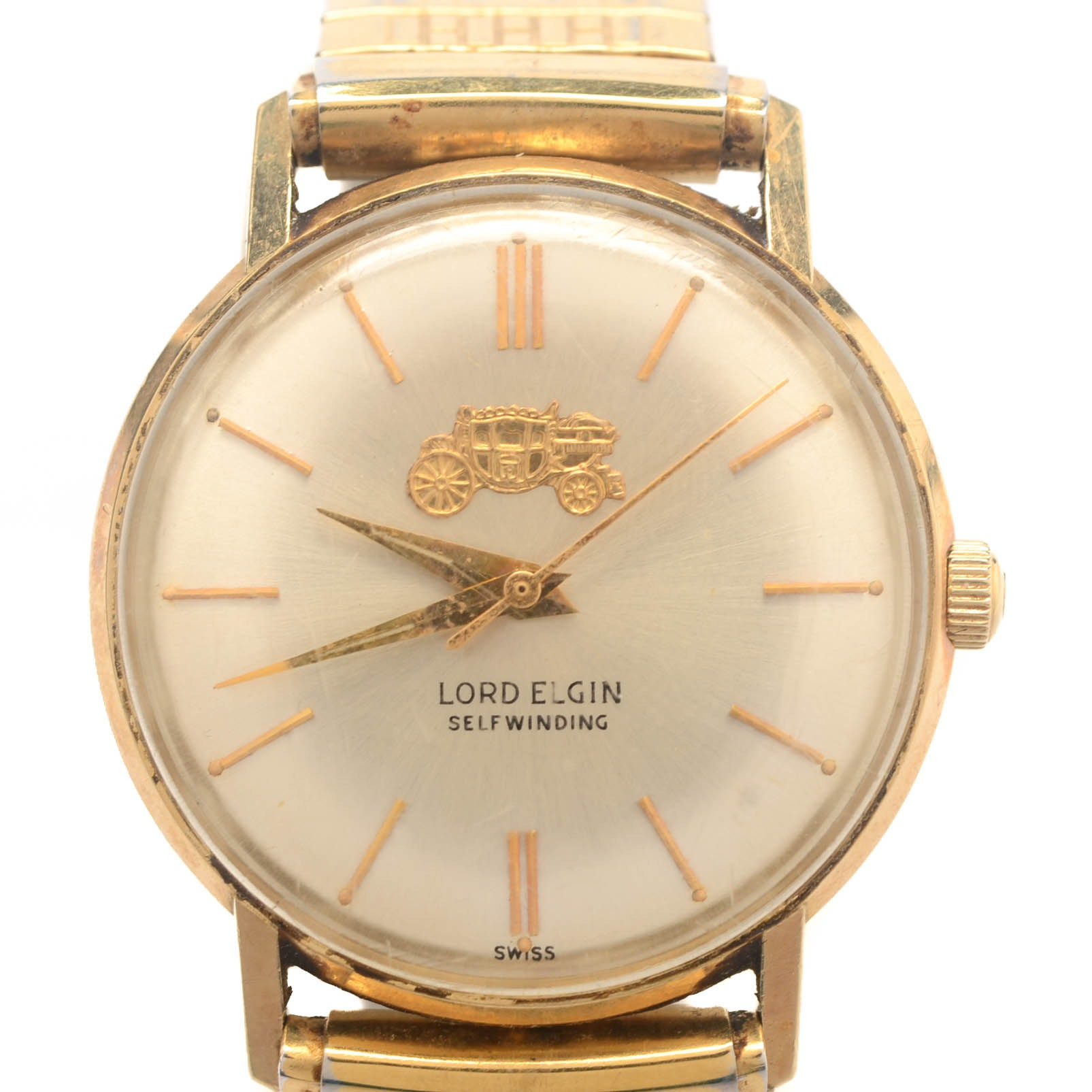14K Yellow Gold Lord Elgin Automatic Wristwatch