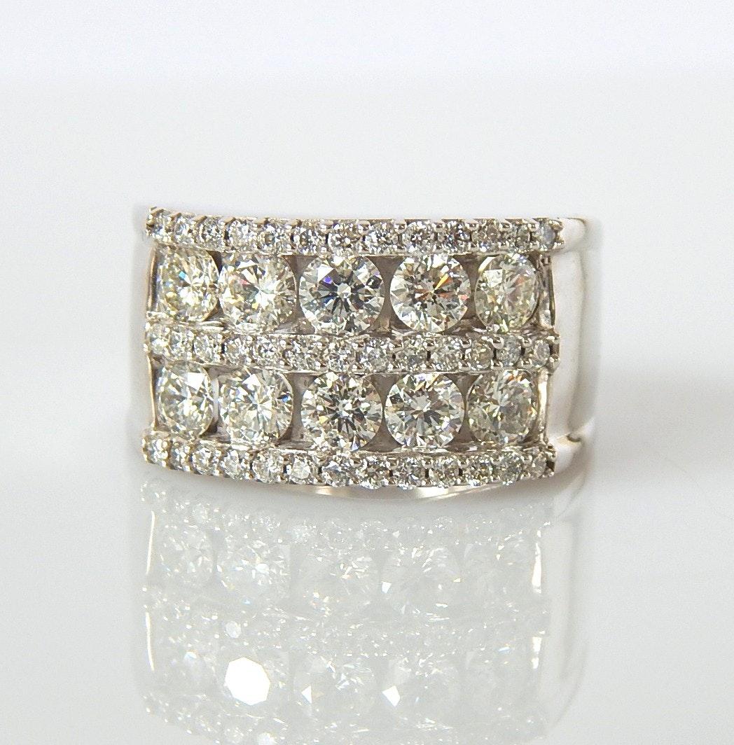 14K White Gold 2.43 CTW Diamond Ring
