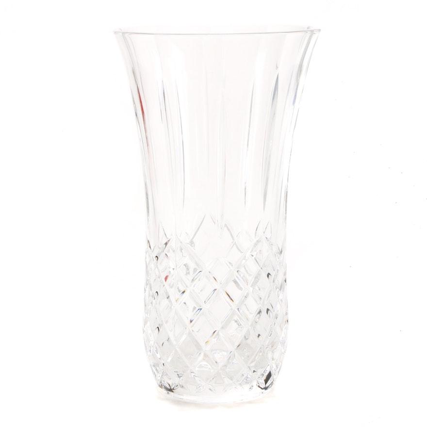 Cut Glass Vase Ebth