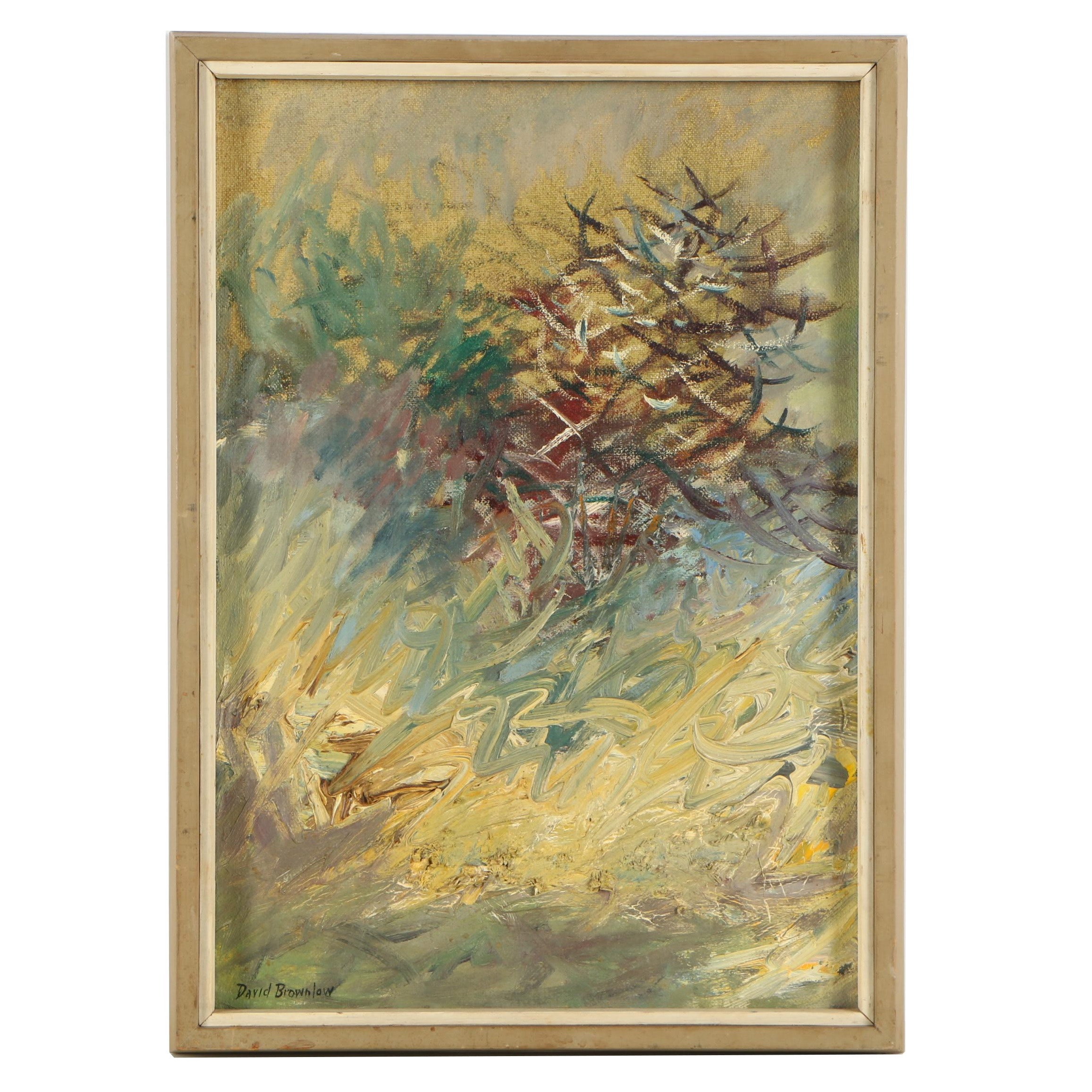 David Brownlow Oil Painting Abstract Composition