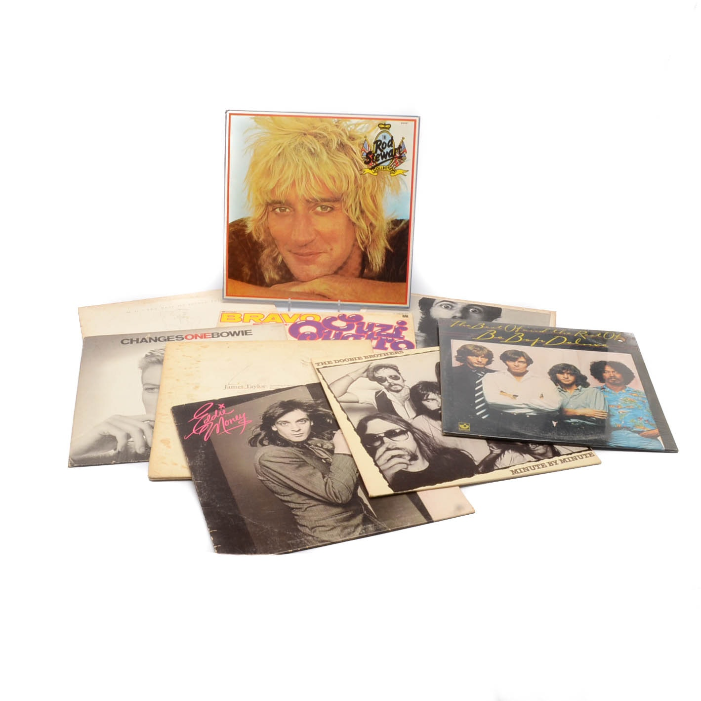 Collection of Nine Vintage Pop and Rock Albums