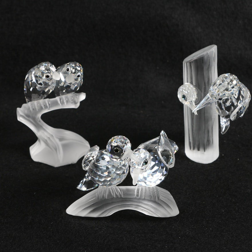 39f7031bb 1987-89 Swarovski Crystal Annual Edition Bird Figurines : EBTH
